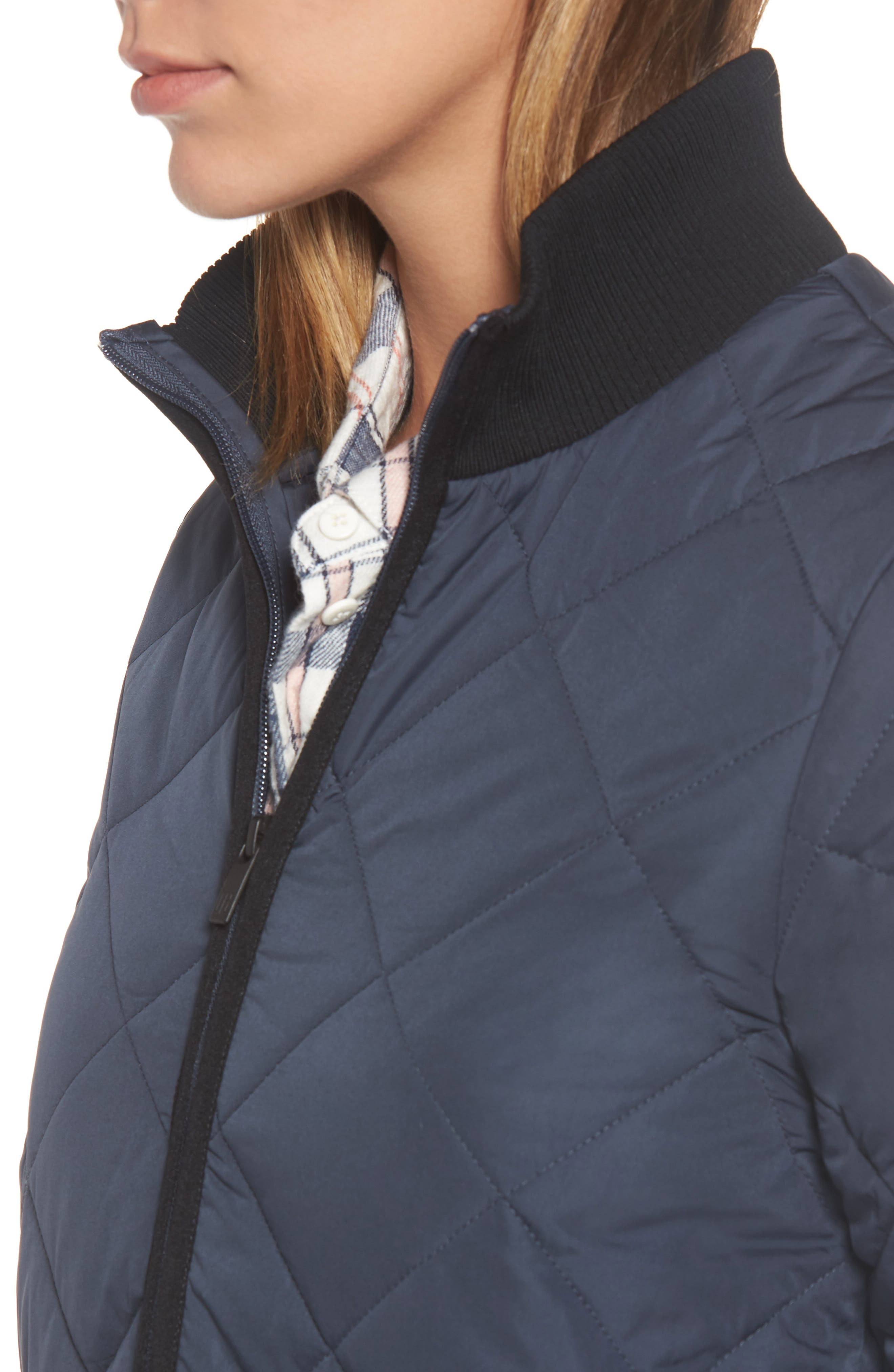IIse Jacobsen Hornbaek Quilted Coat,                             Alternate thumbnail 4, color,                             401