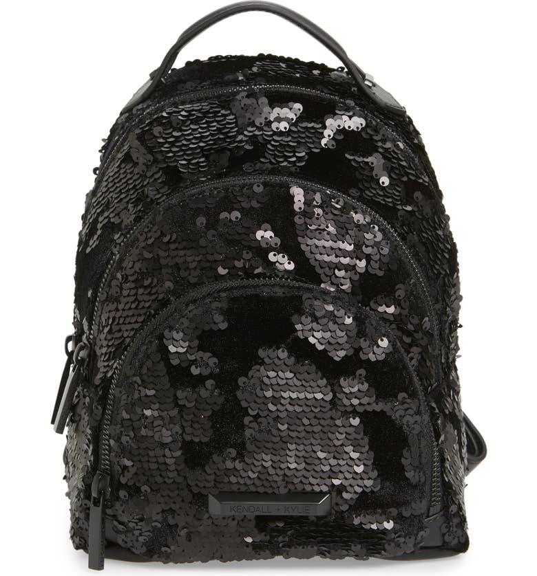 KENDALL + KYLIE Mini Sloane Velvet   Sequin Backpack  e526dd92af27a