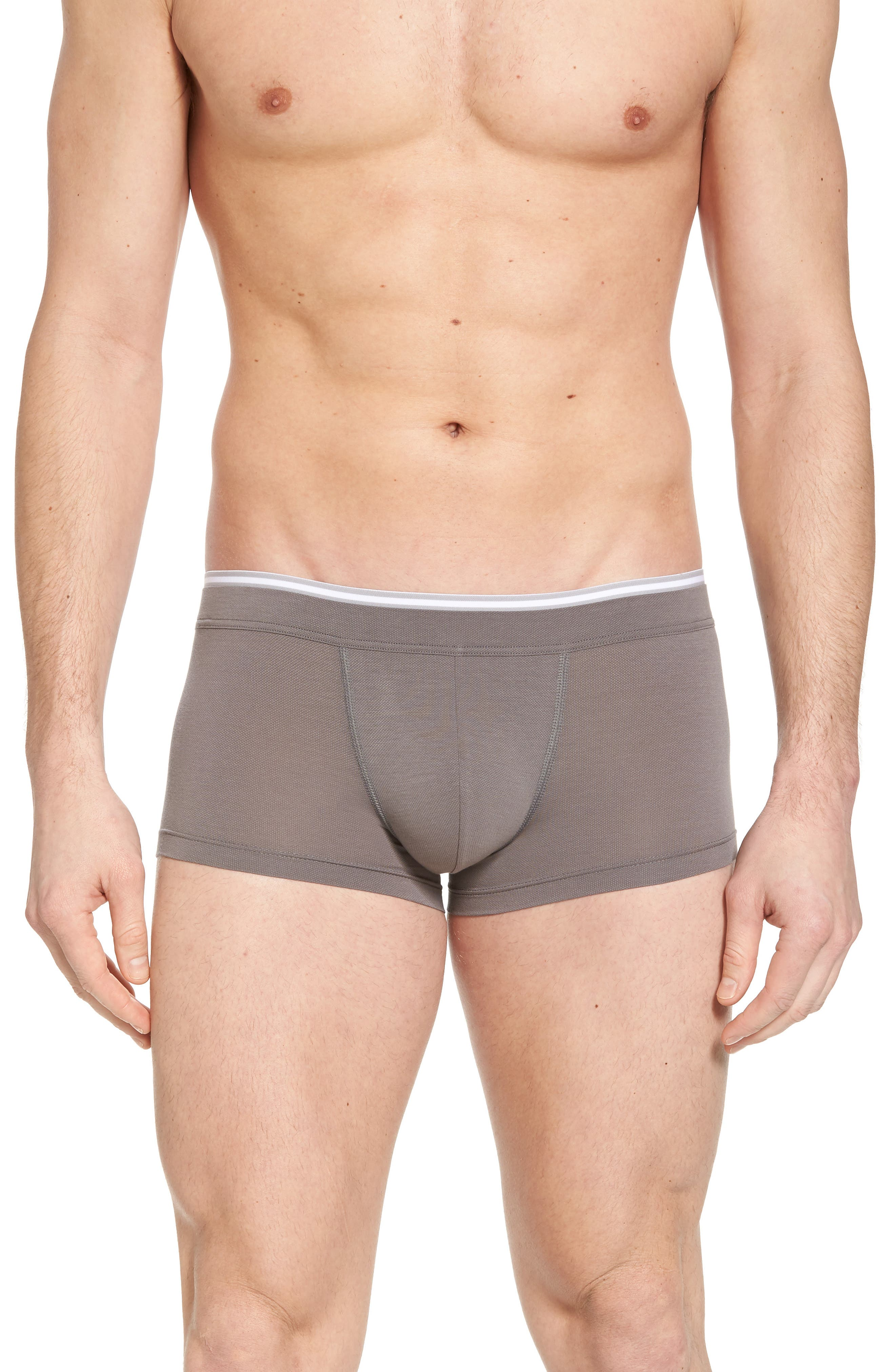 Liam Cotton Blend Trunks,                         Main,                         color, MOONROCK