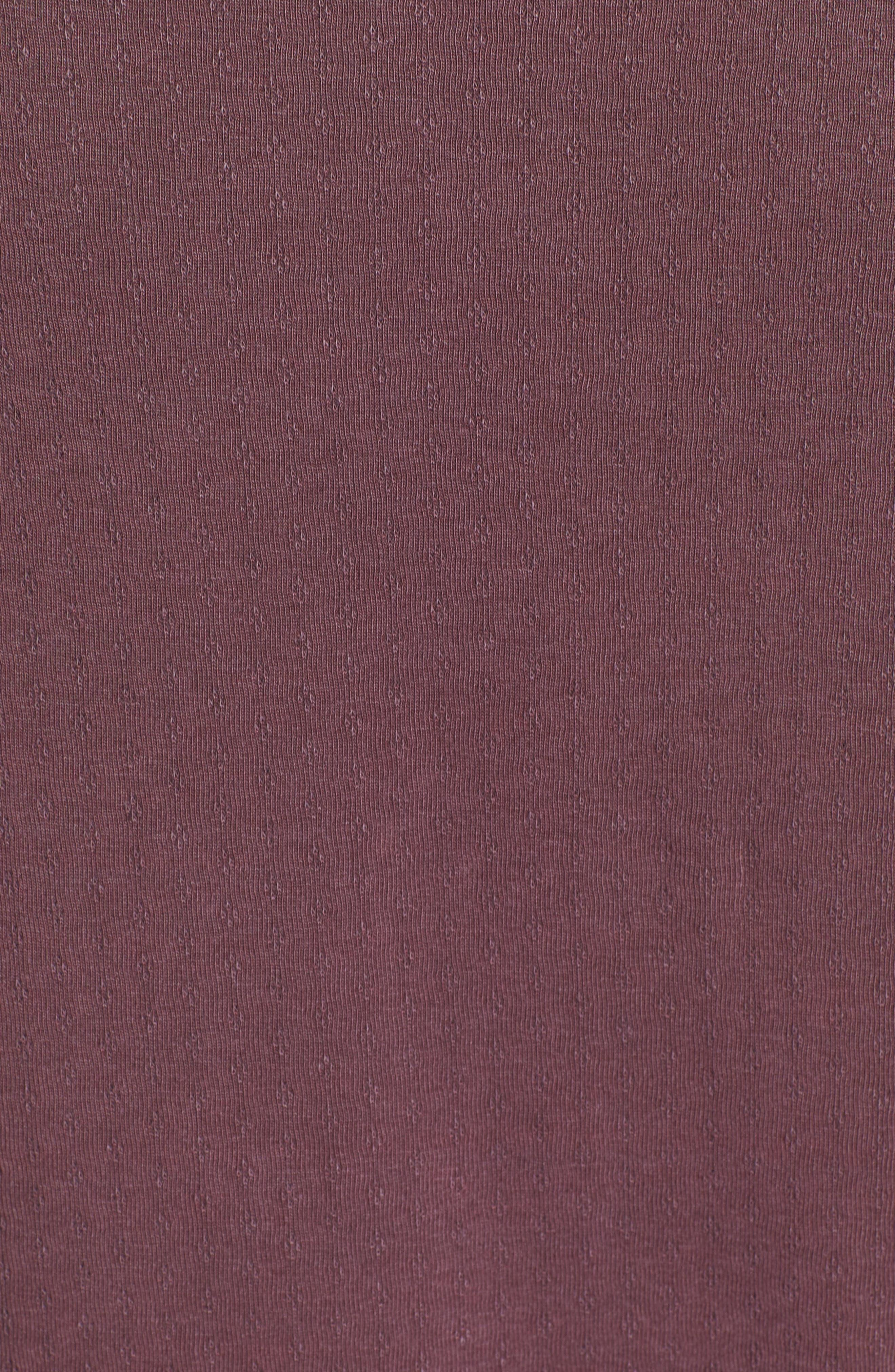 Pointelle Raw Edge Twist Cotton Top,                             Alternate thumbnail 5, color,                             931