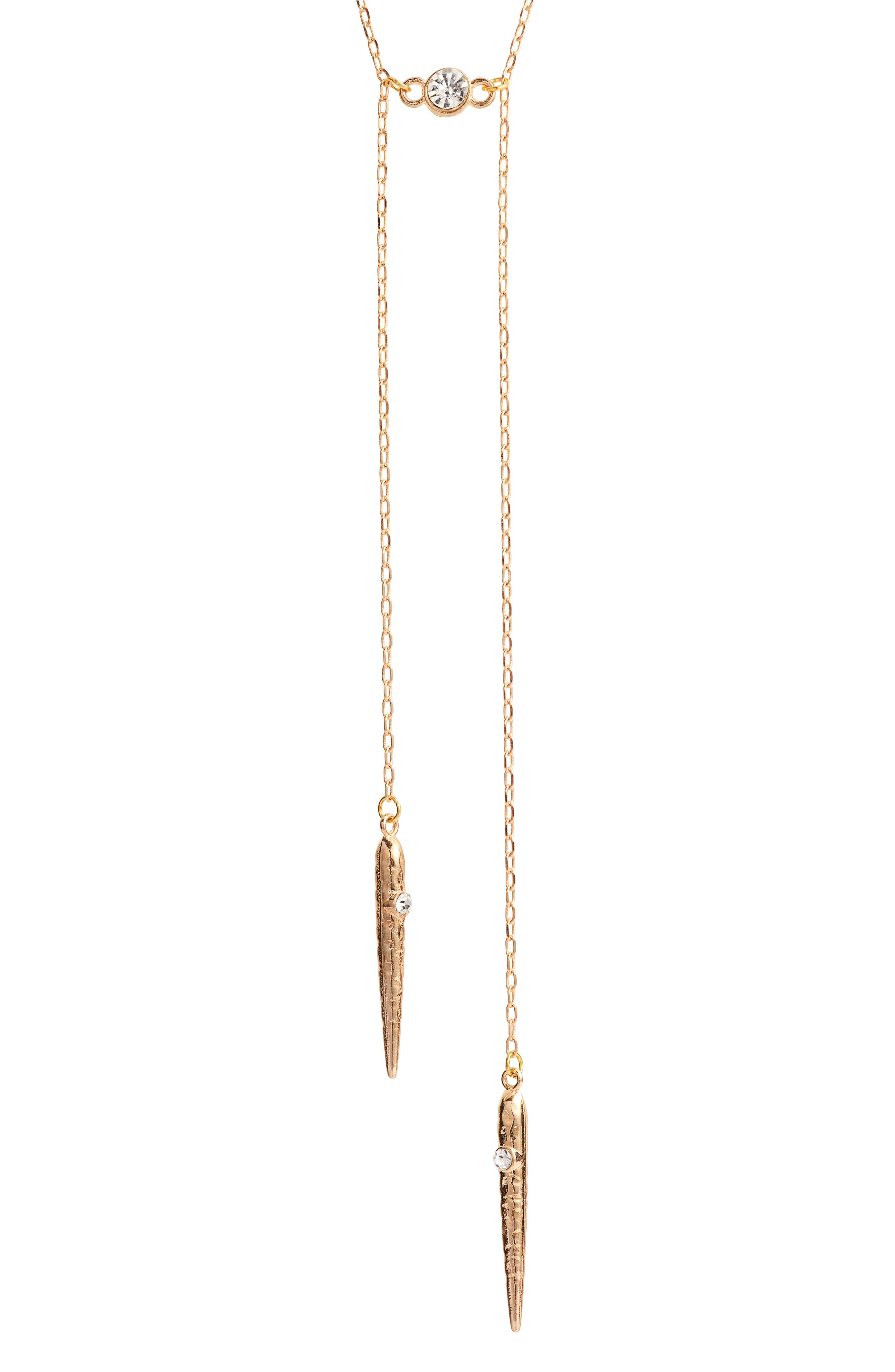 Cherrelle Bolo Necklace,                             Alternate thumbnail 2, color,                             GOLD
