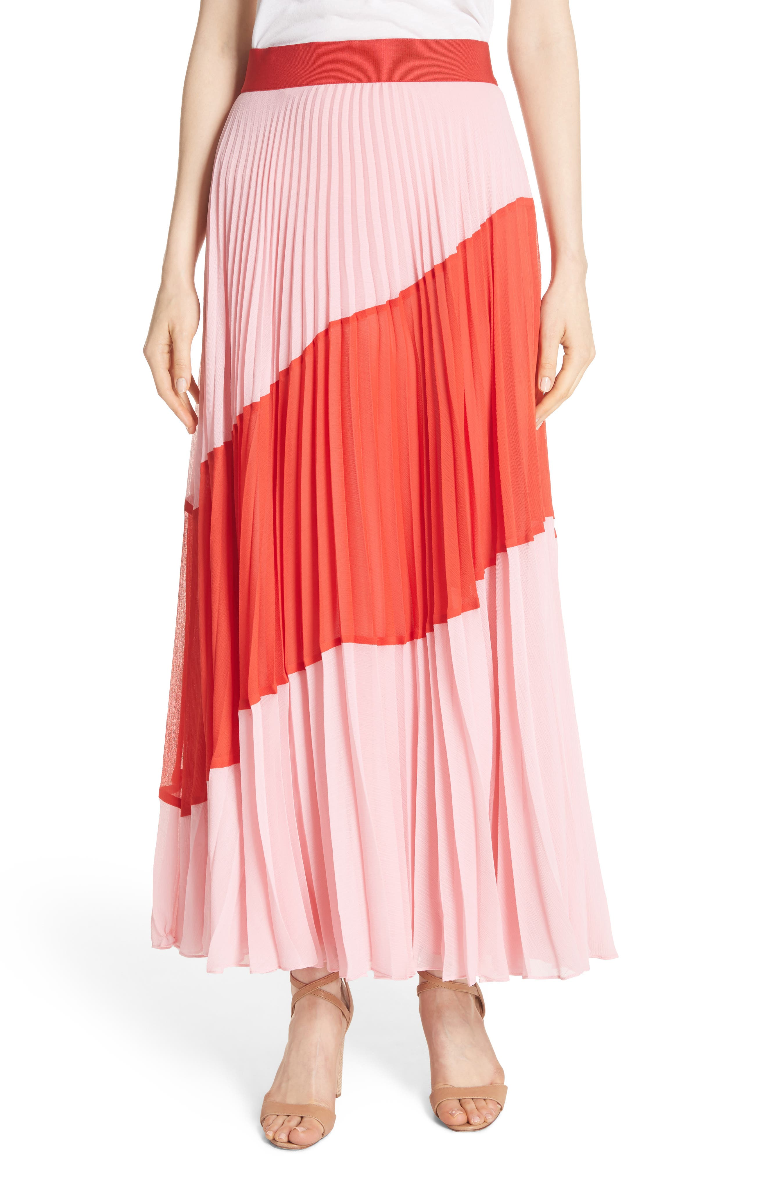 Tavi Colorblock Maxi Skirt,                             Main thumbnail 1, color,