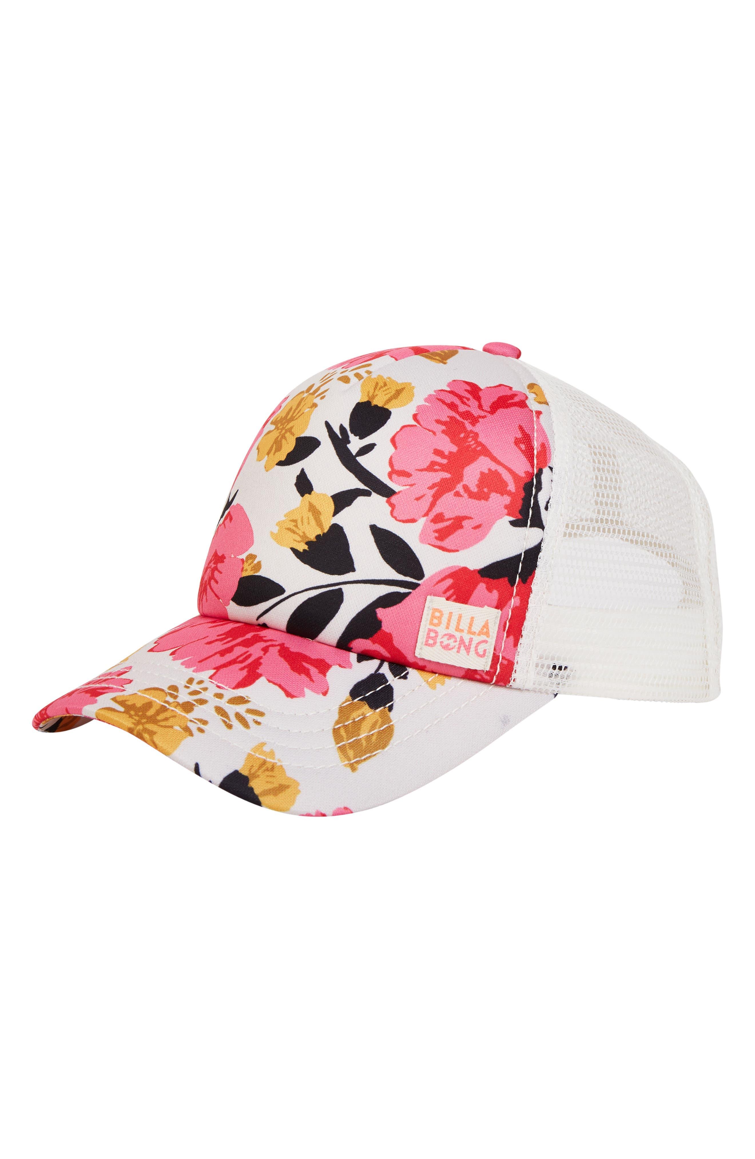 Shenanigans Trucker Hat,                             Main thumbnail 1, color,                             TPK-TAHITI PINK