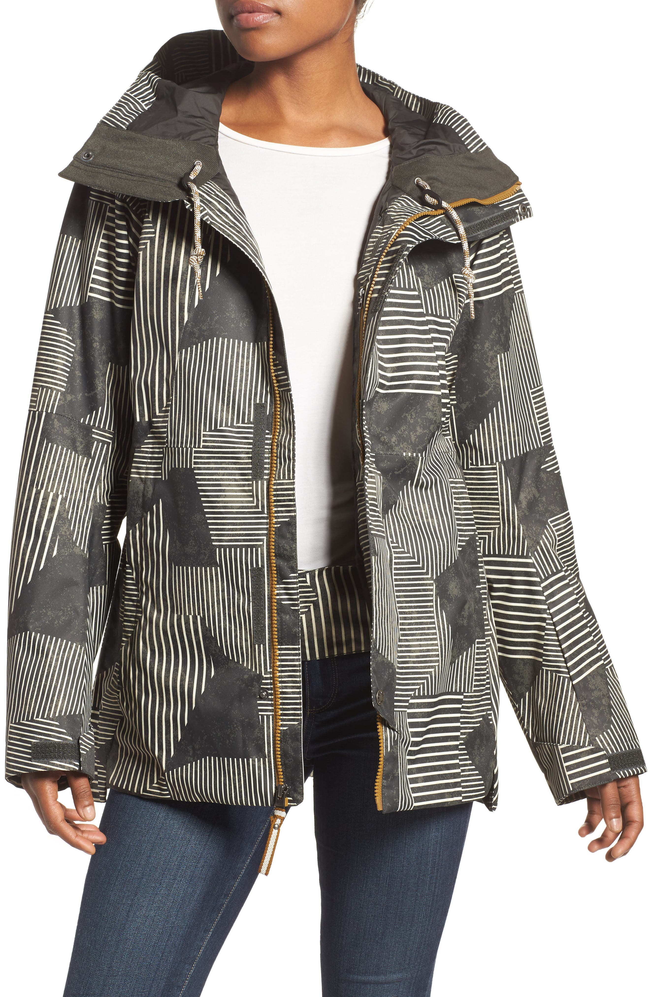 Superlu Weatherproof Hooded Ski Jacket,                         Main,                         color, 021