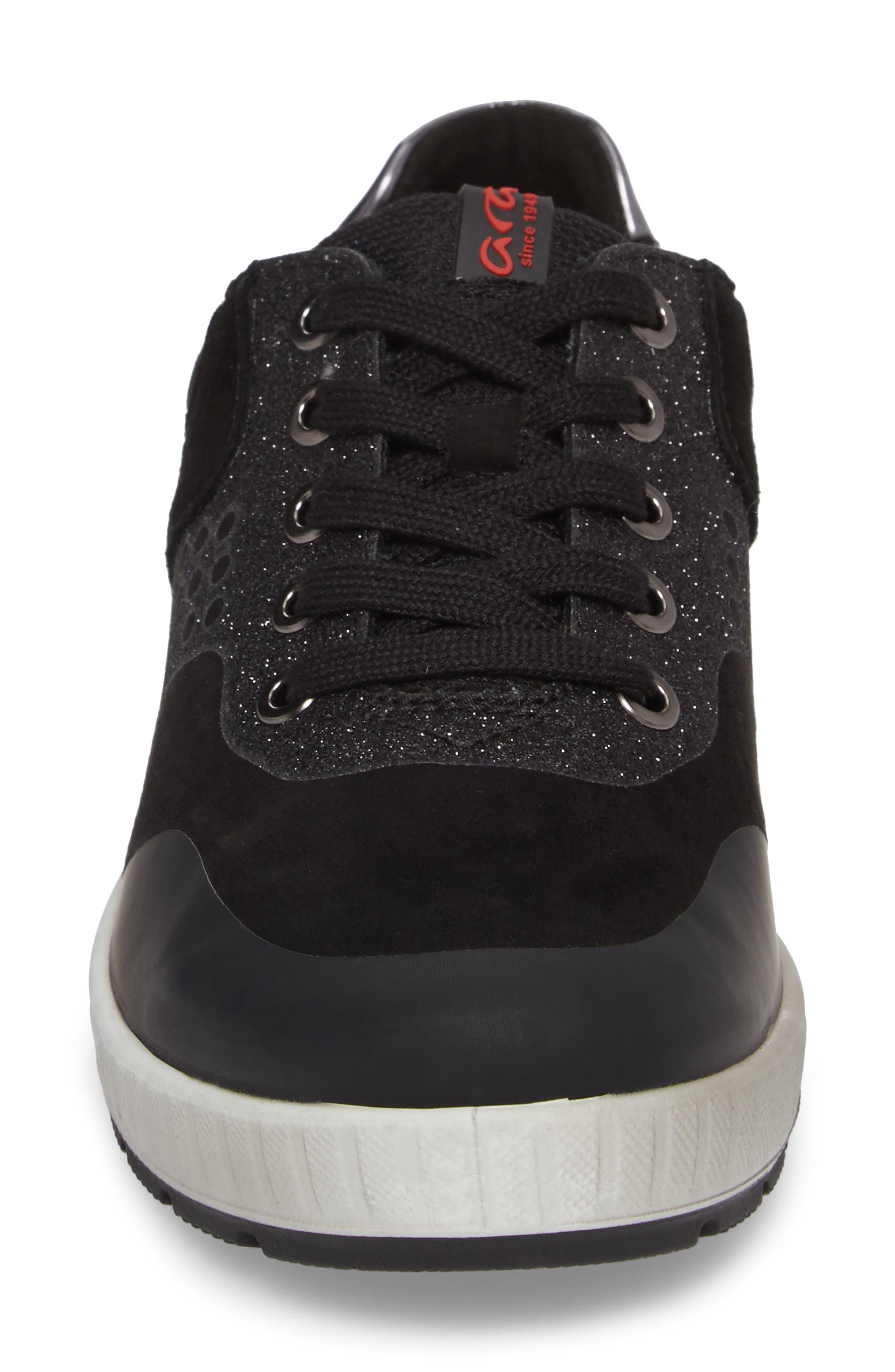 ARA,                             Natalie Sneaker,                             Alternate thumbnail 4, color,                             BLACK LEATHER