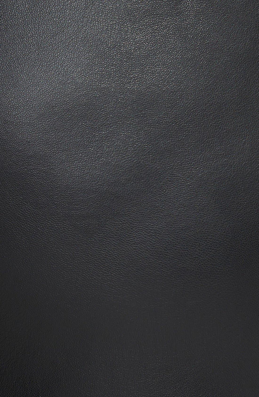 ELOQUII,                             Studio Faux Leather Culottes,                             Alternate thumbnail 2, color,                             001