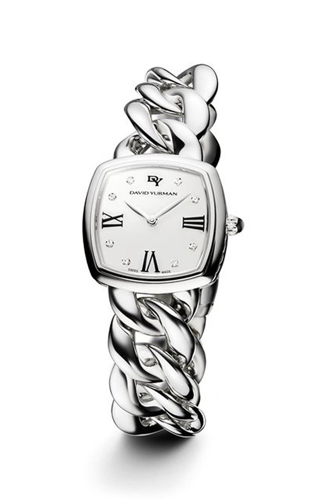 'Albion' 27mm Stainless Steel Quartz Watch with Diamonds,                             Main thumbnail 1, color,                             SILVER