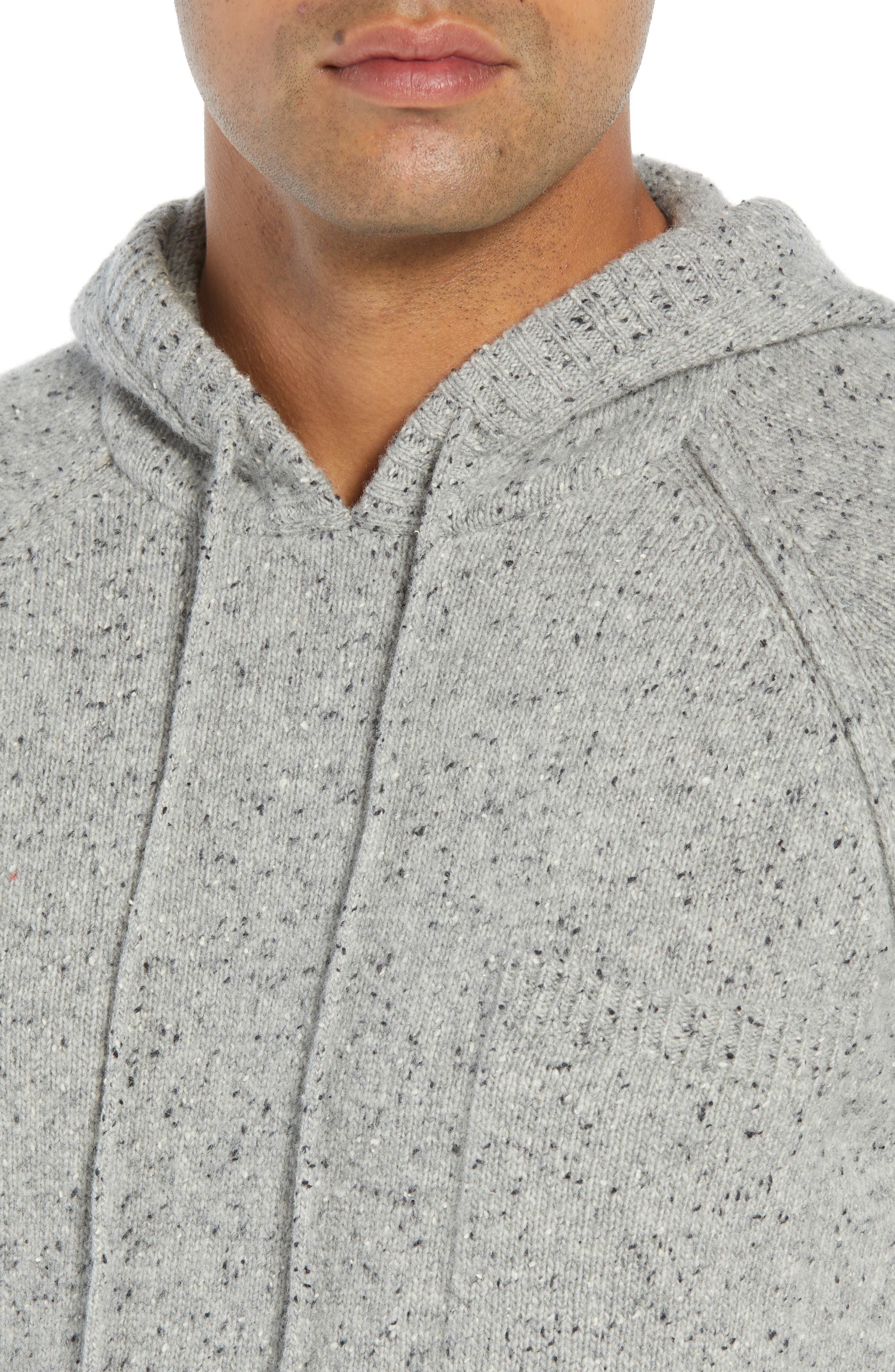 Rule 18 Donegal Regular Fit Hooded Sweater,                             Alternate thumbnail 4, color,                             GREY