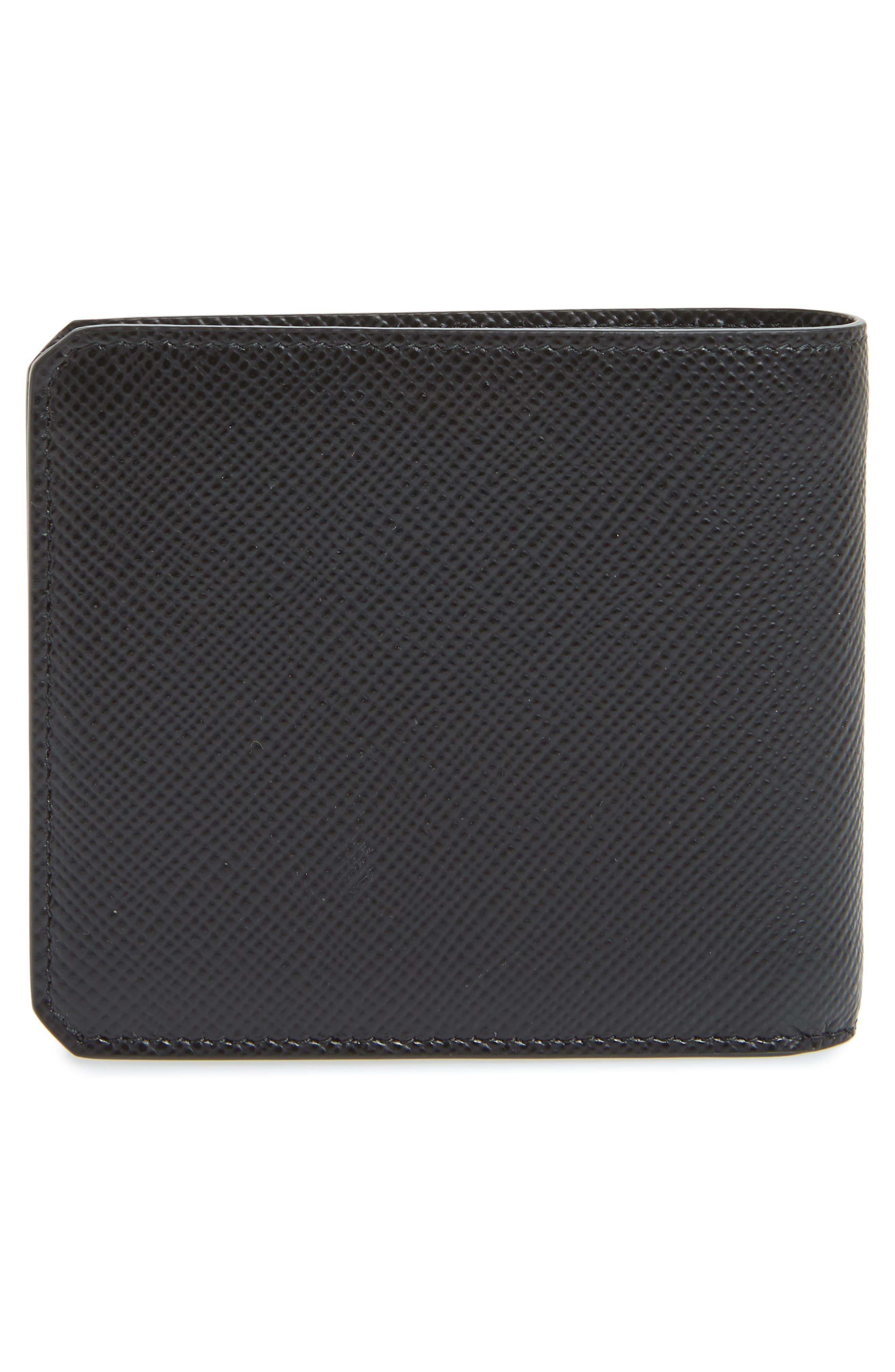 Saffiano Leather Wallet,                             Alternate thumbnail 3, color,                             001