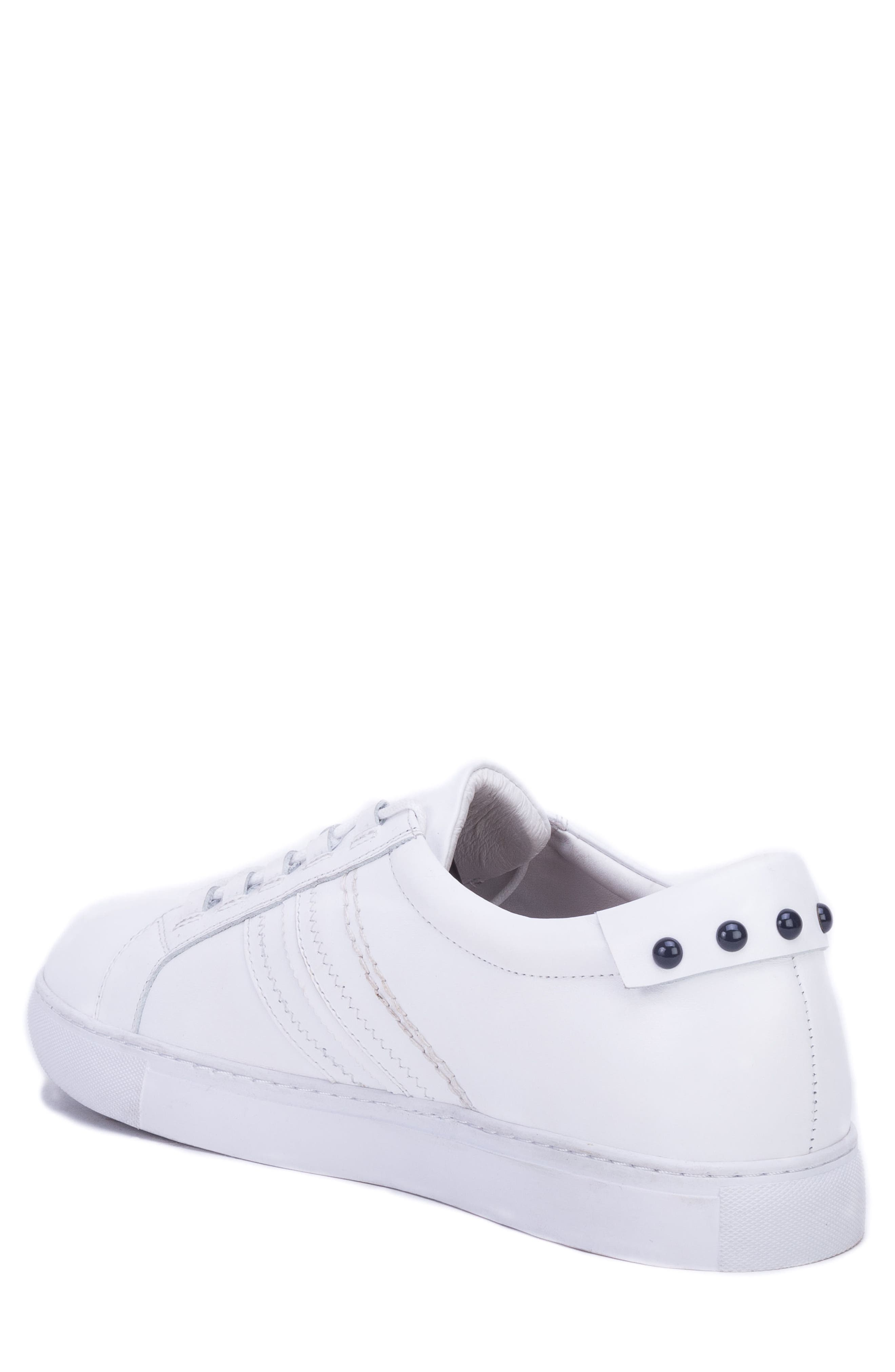 Horton Studded Low Top Sneaker,                             Alternate thumbnail 2, color,                             WHITE LEATHER