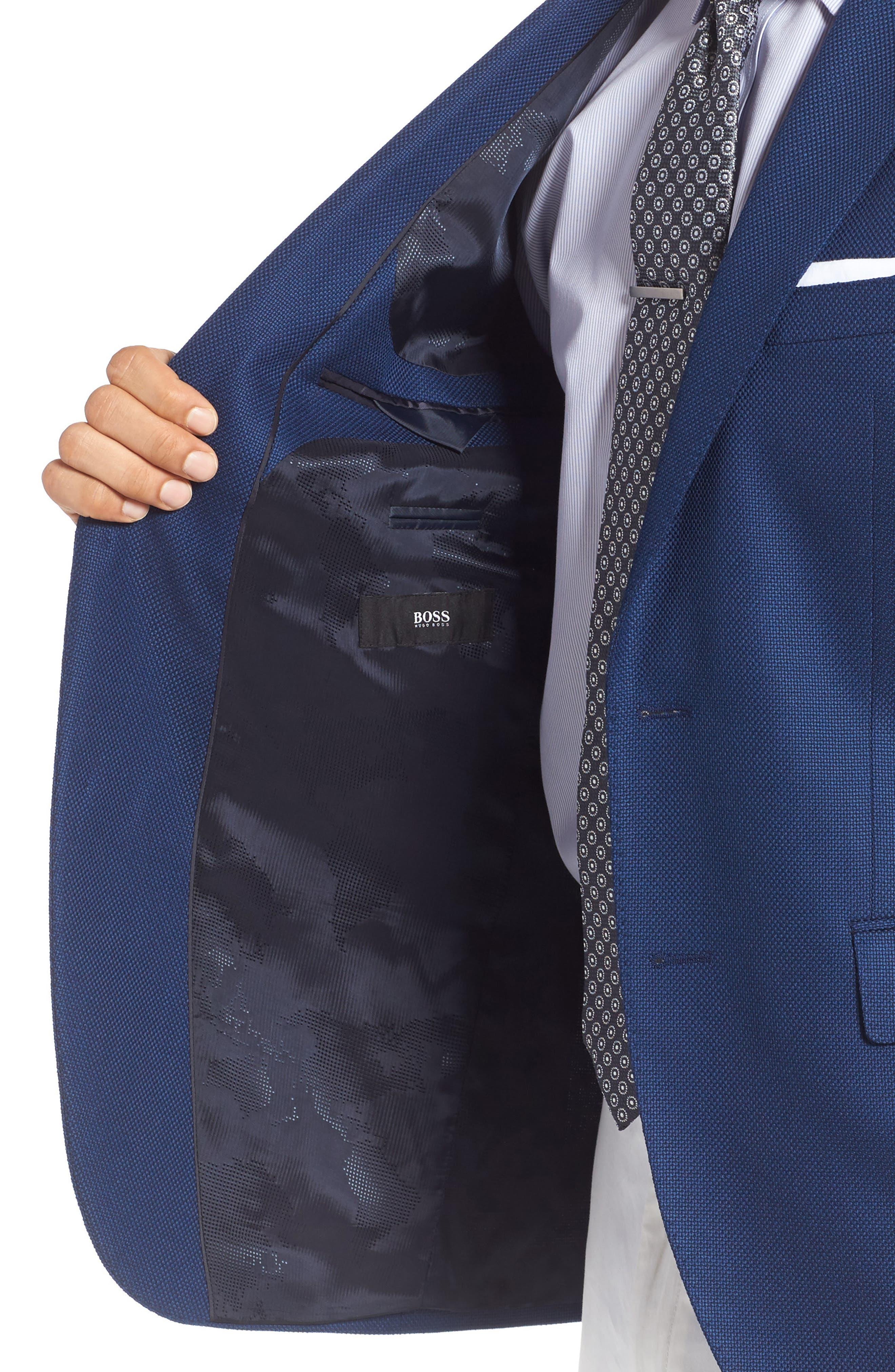 ZZDNUHUGO BOSS,                             BOSS Jet Trim Fit Stretch Wool Travel Blazer,                             Alternate thumbnail 4, color,                             420
