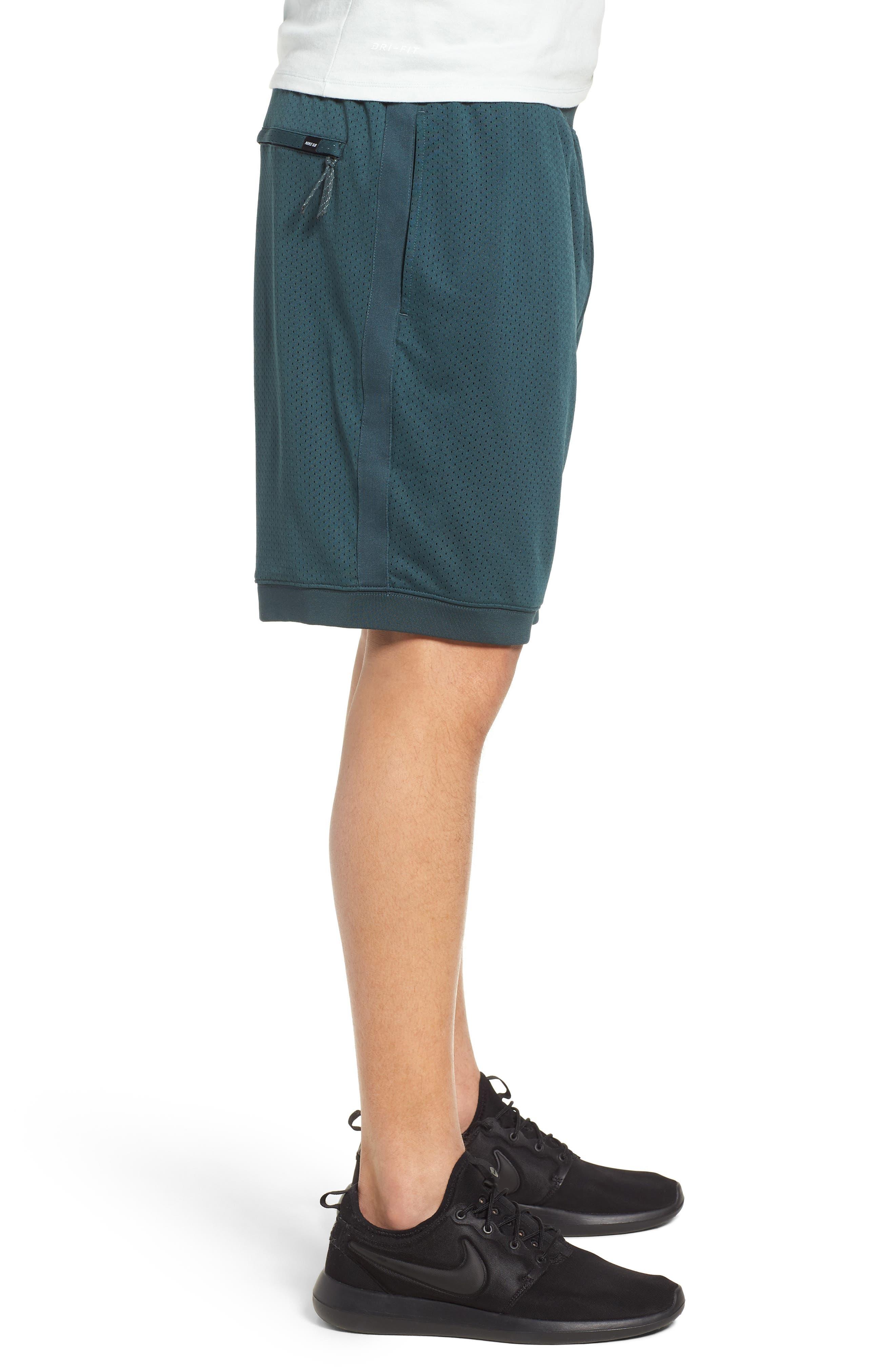 SB Dry Heritage Court Shorts,                             Alternate thumbnail 3, color,                             DEEP JUNGLE/ BLACK
