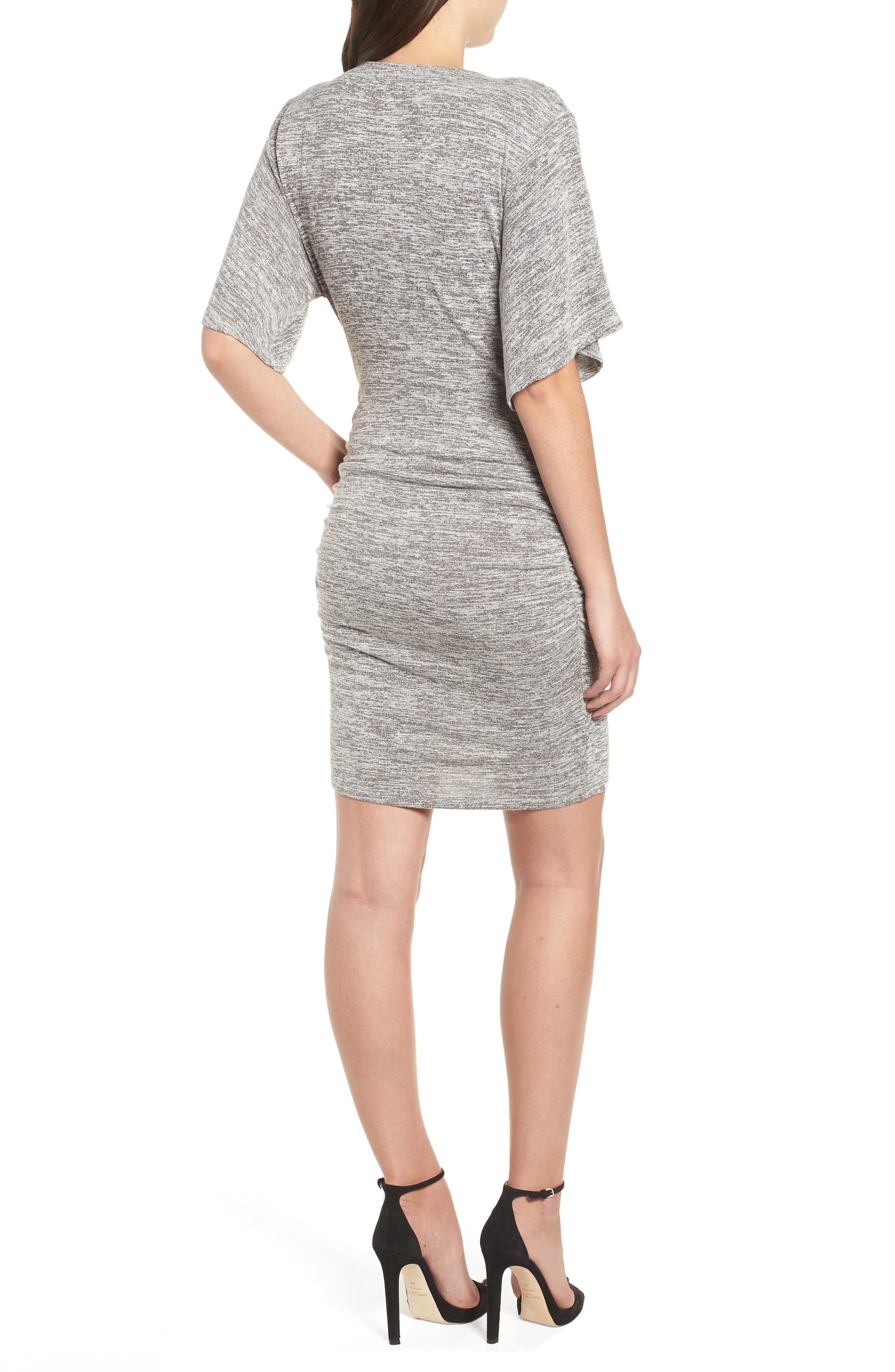 Wrap Dress,                             Alternate thumbnail 2, color,                             GREY CLOUDY HEATHER