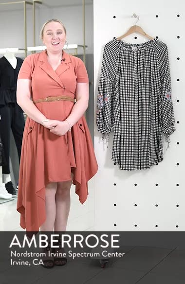 Embroidered Sleeve Shift Dress, sales video thumbnail
