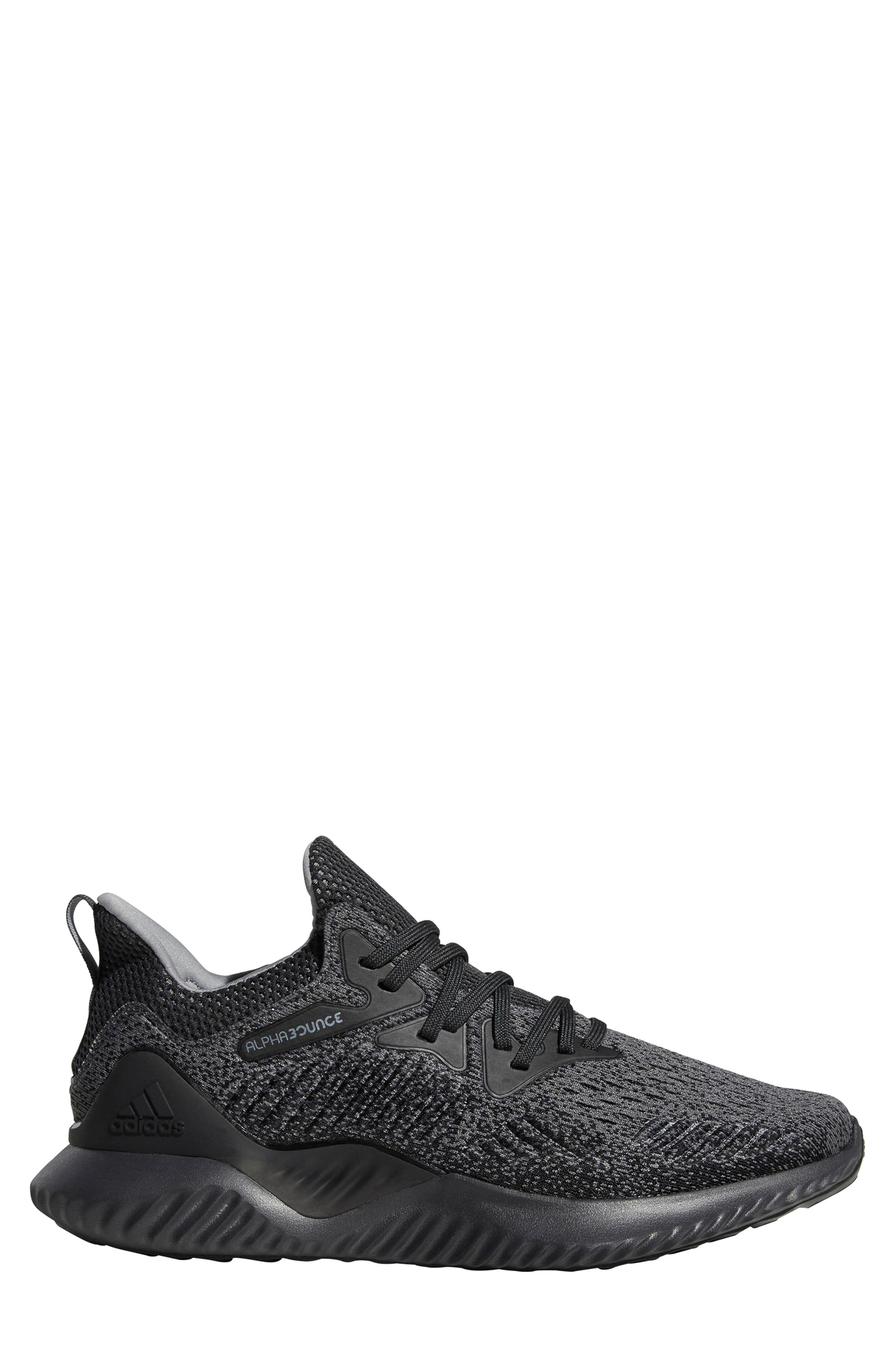 AlphaBounce Beyond Knit Running Shoe,                             Alternate thumbnail 3, color,                             099