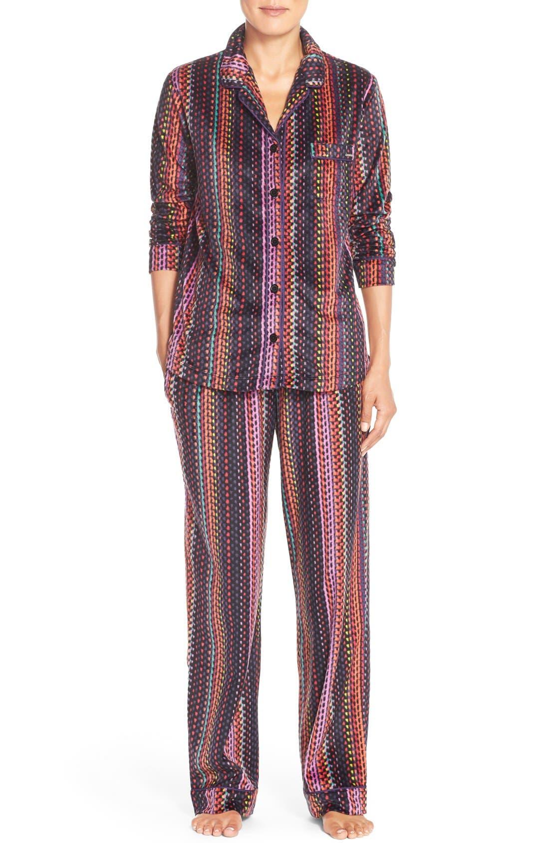 Microfleece Pajamas,                             Main thumbnail 1, color,                             001