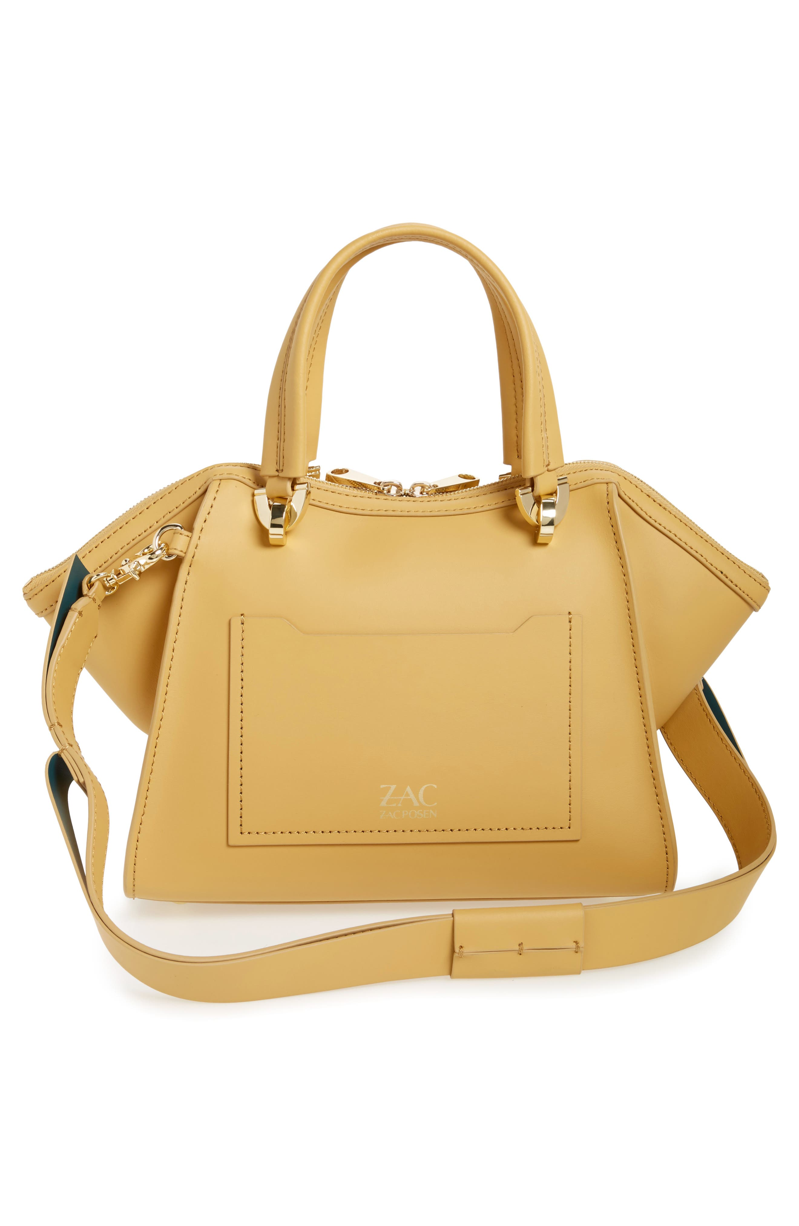Eartha Iconic Calfskin Leather Double Handle Satchel,                             Alternate thumbnail 8, color,