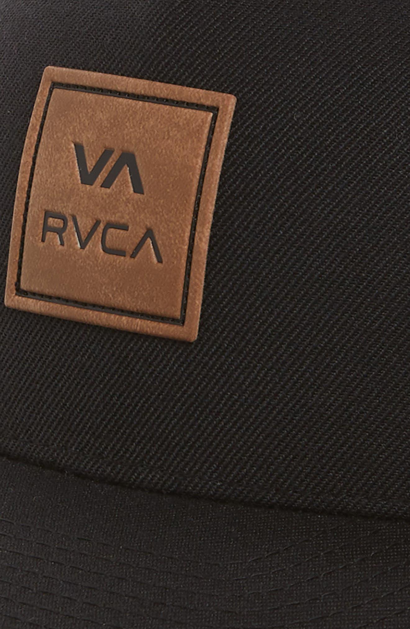 RVCA,                             VA All the Way Logo Cap,                             Alternate thumbnail 3, color,                             BLACK
