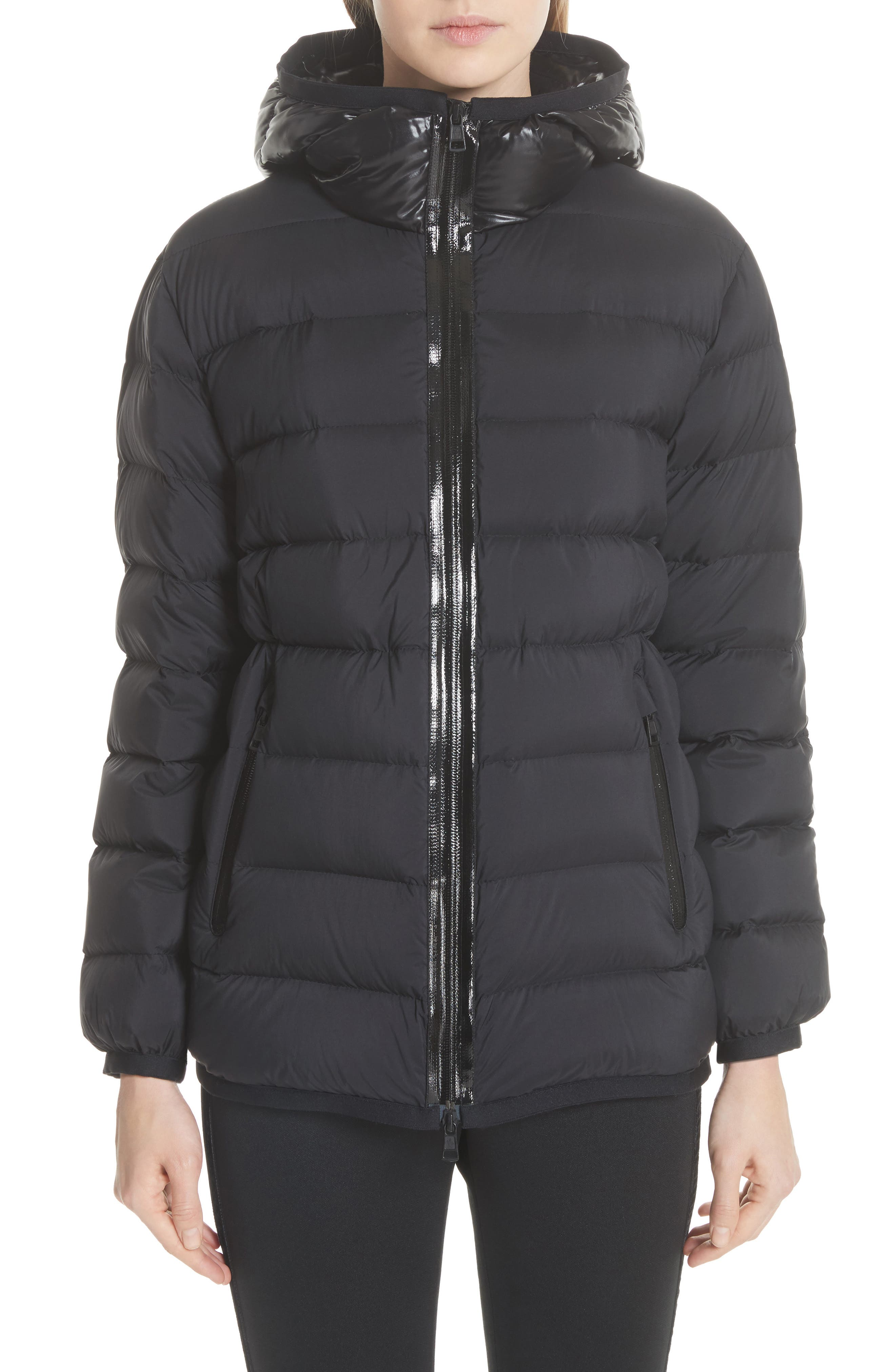 Goeland Quilted Down Jacket, Main, color, BLACK