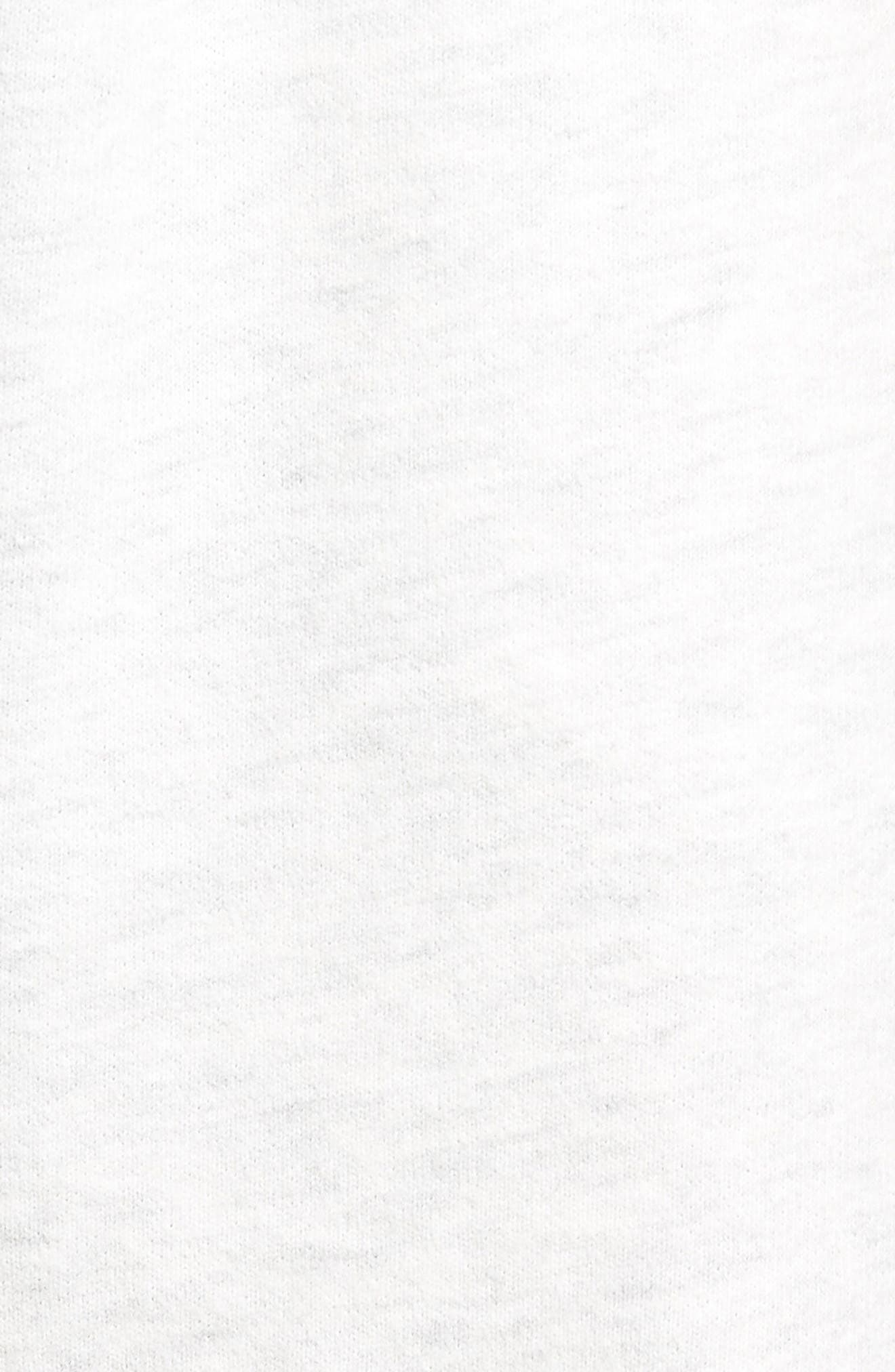 Raw Edge Drawstring Shorts,                             Alternate thumbnail 5, color,                             100