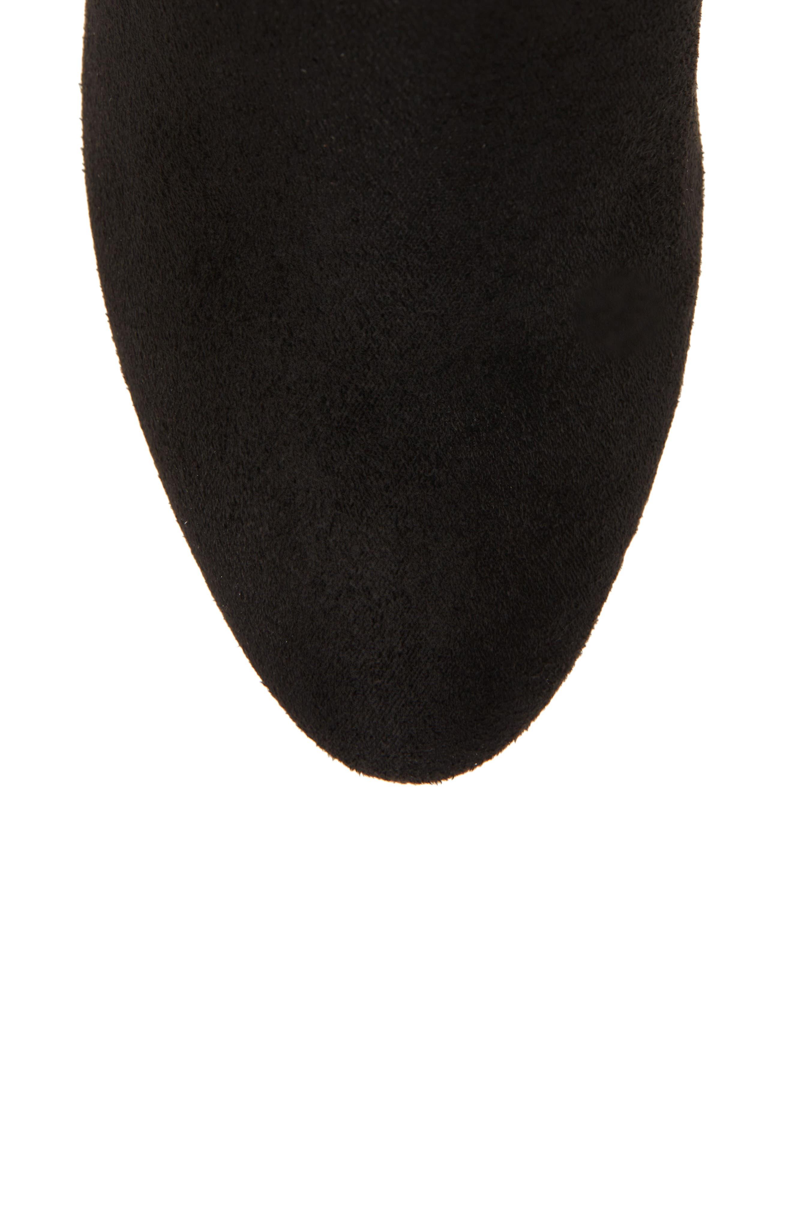 Gillian Knee High Boot,                             Alternate thumbnail 5, color,                             BLACK SUEDE