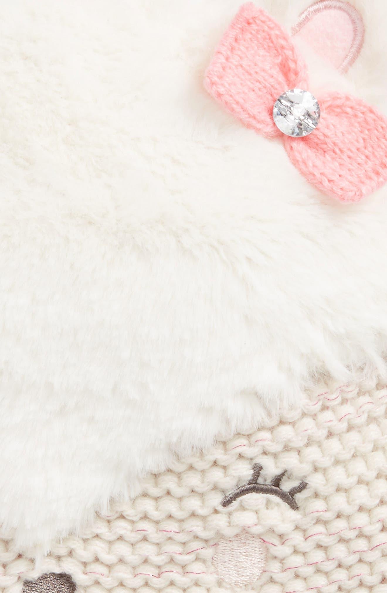 Faux Fur Bear Hat,                             Alternate thumbnail 2, color,                             900