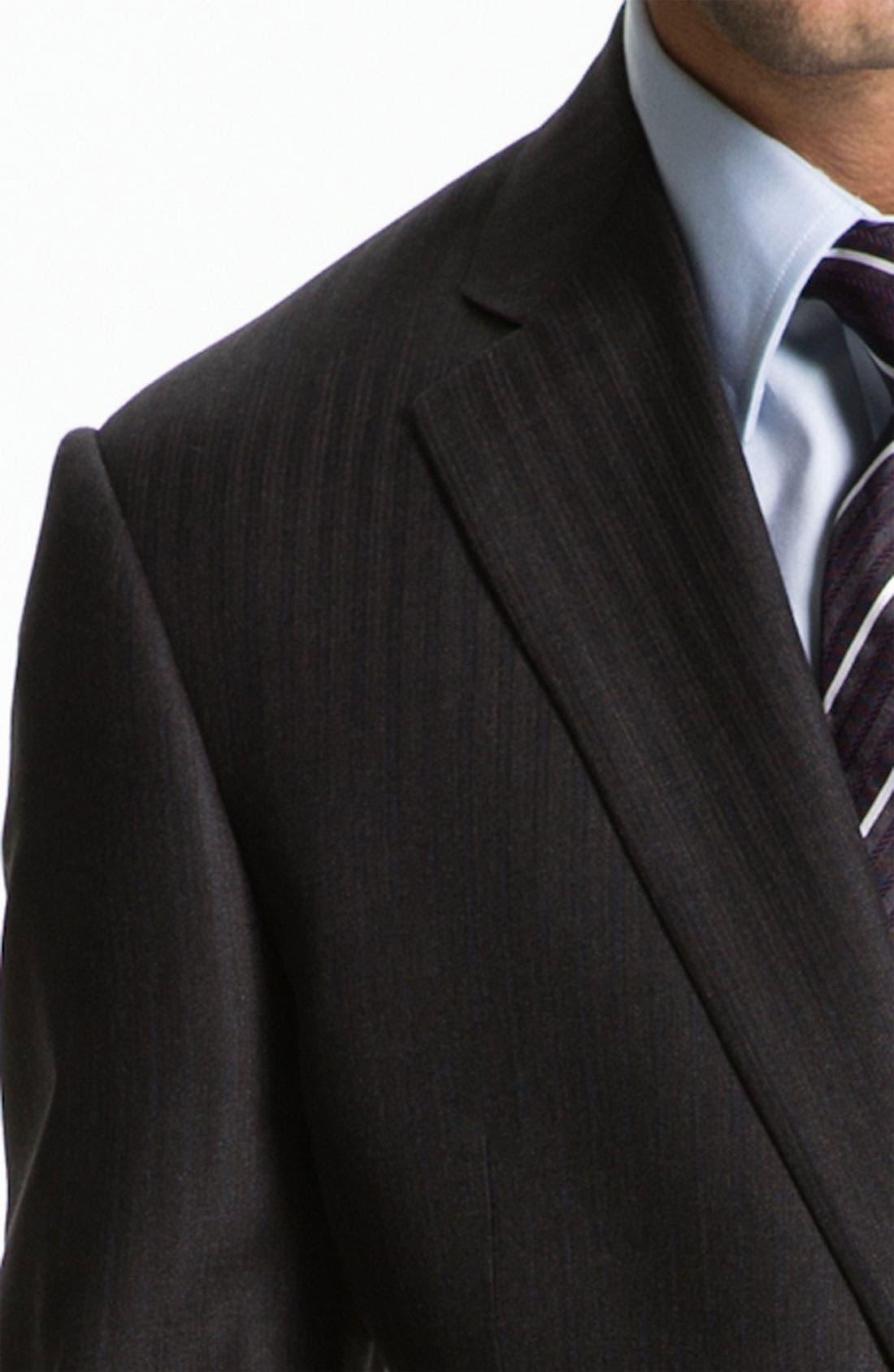 Armani Collezioni 'Giorgio' Trim Fit Stripe Suit,                             Alternate thumbnail 3, color,                             024