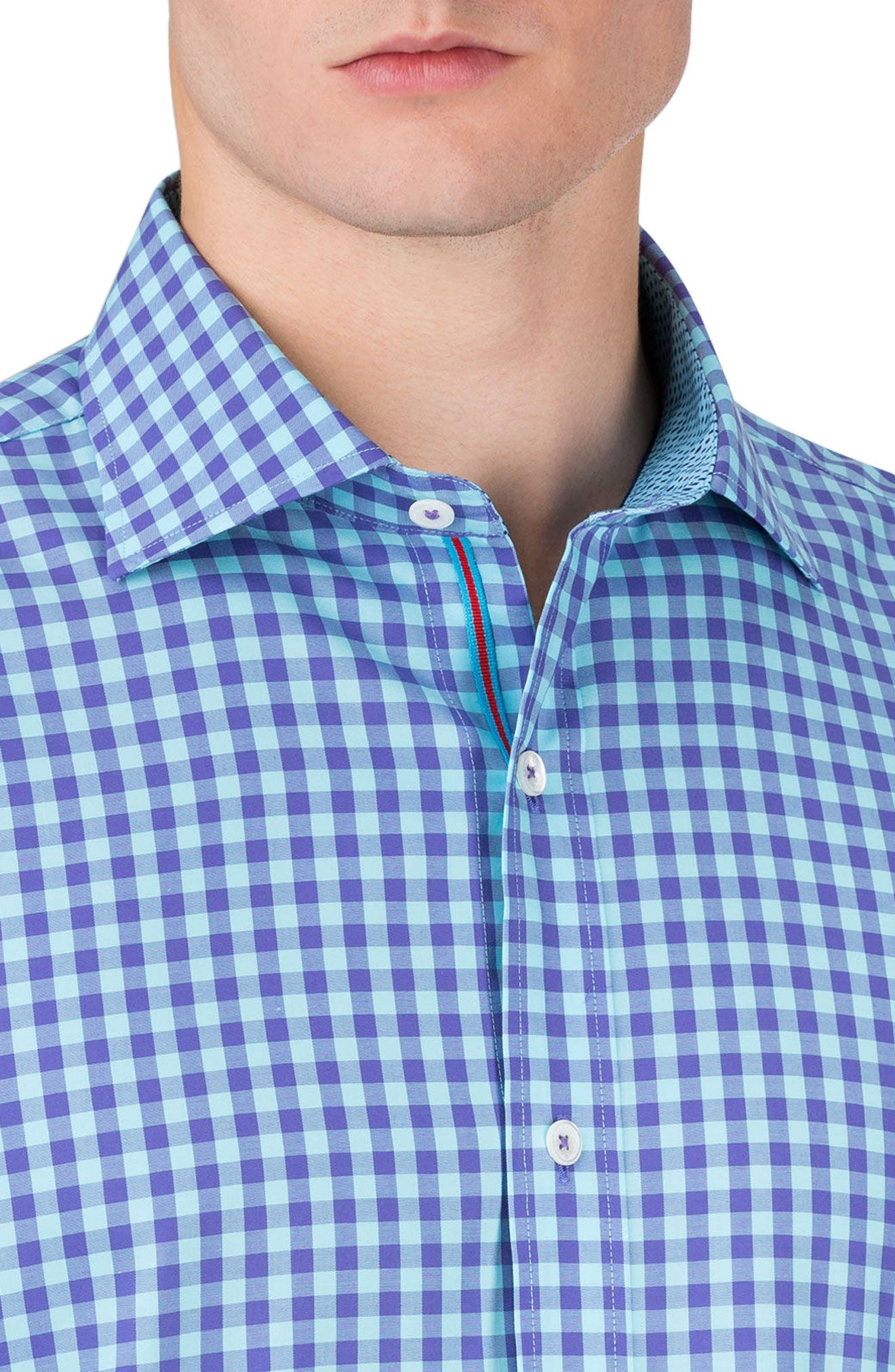 Classic Fit Gingham Sport Shirt,                             Alternate thumbnail 3, color,                             512