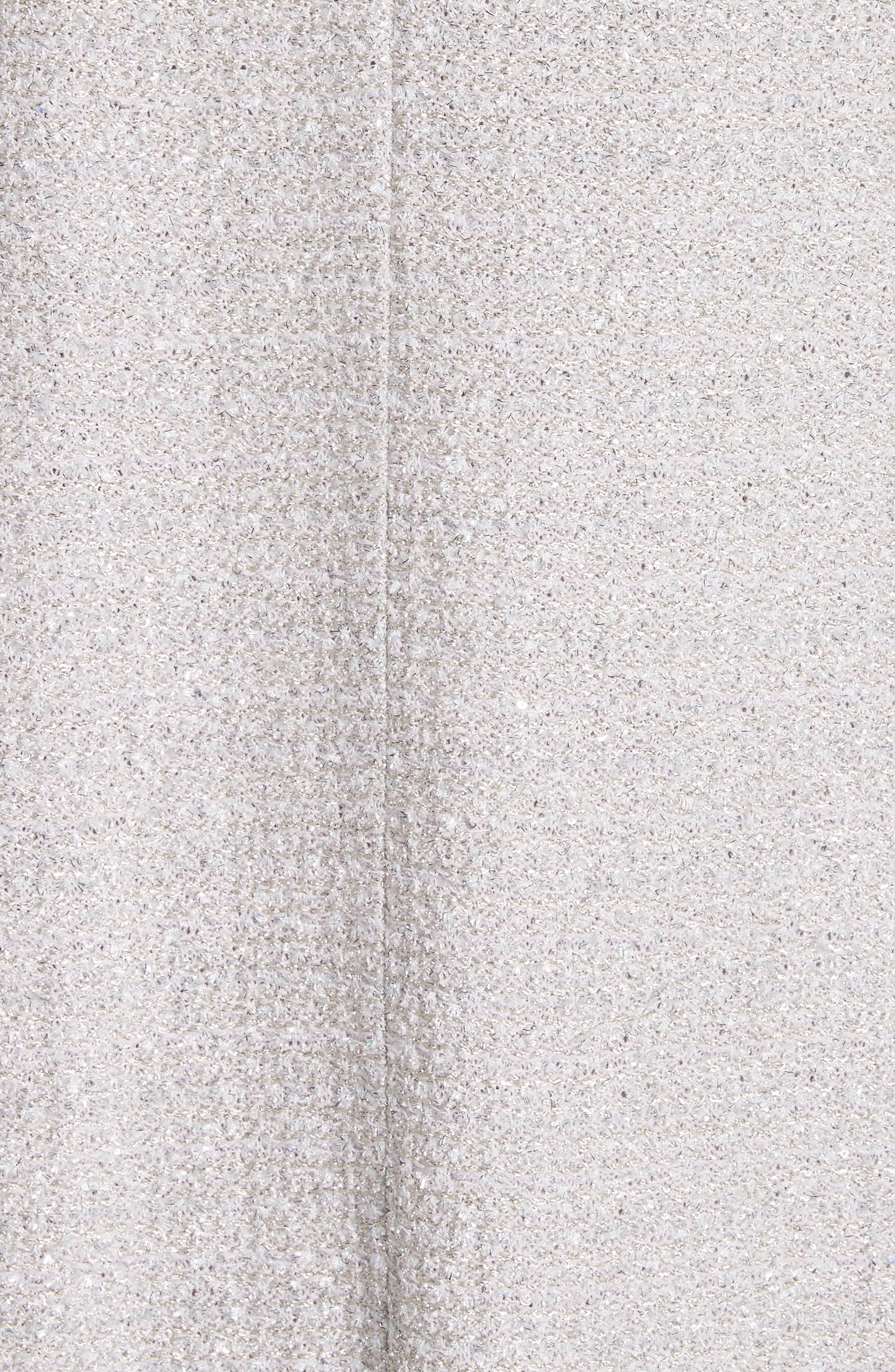ST. JOHN COLLECTION,                             Metallic Eyelash Knit Jacket,                             Alternate thumbnail 6, color,                             020