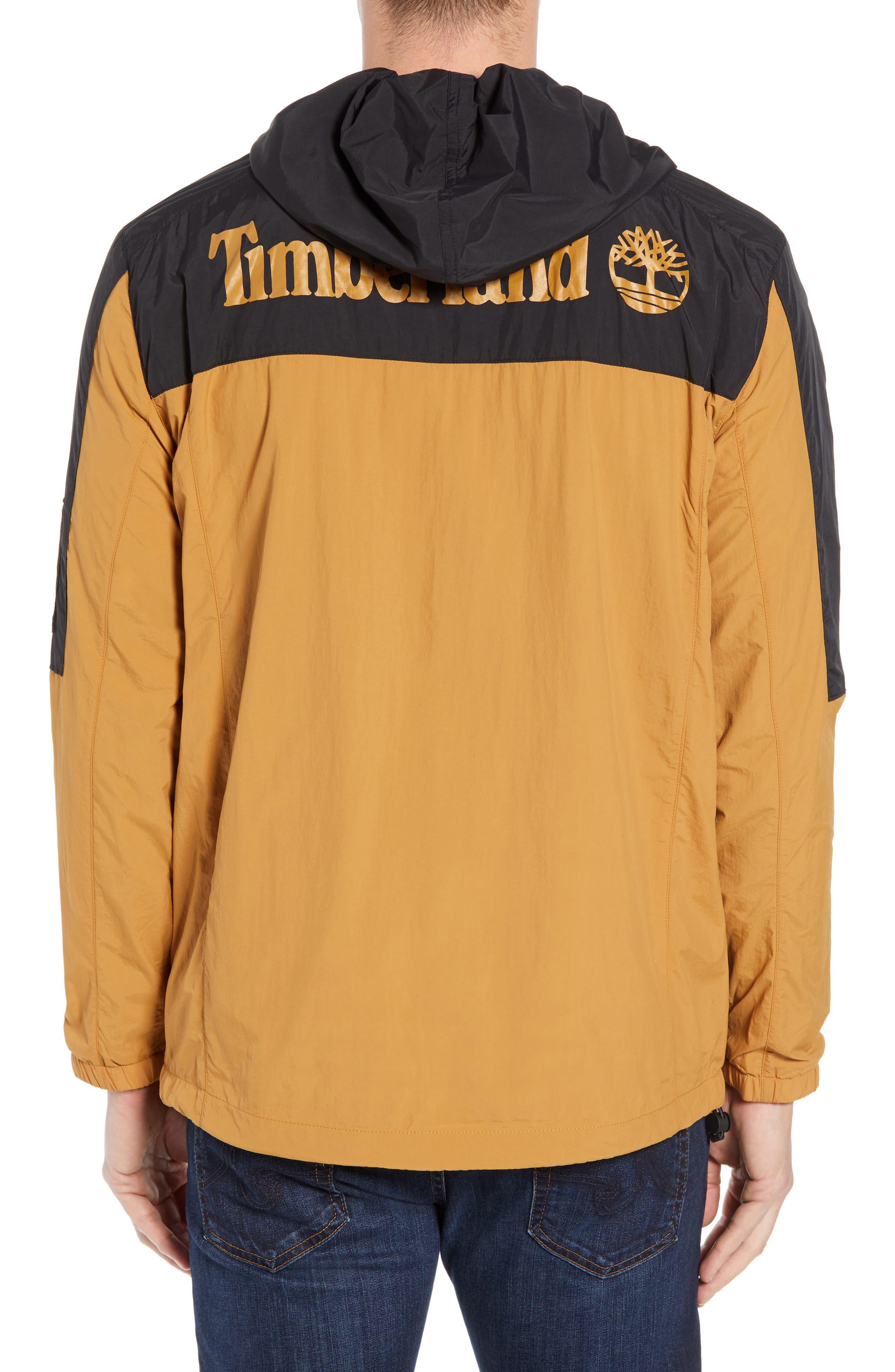 Windbreaker Hooded Jacket,                             Alternate thumbnail 2, color,                             WHEAT BOOT/ BLACK