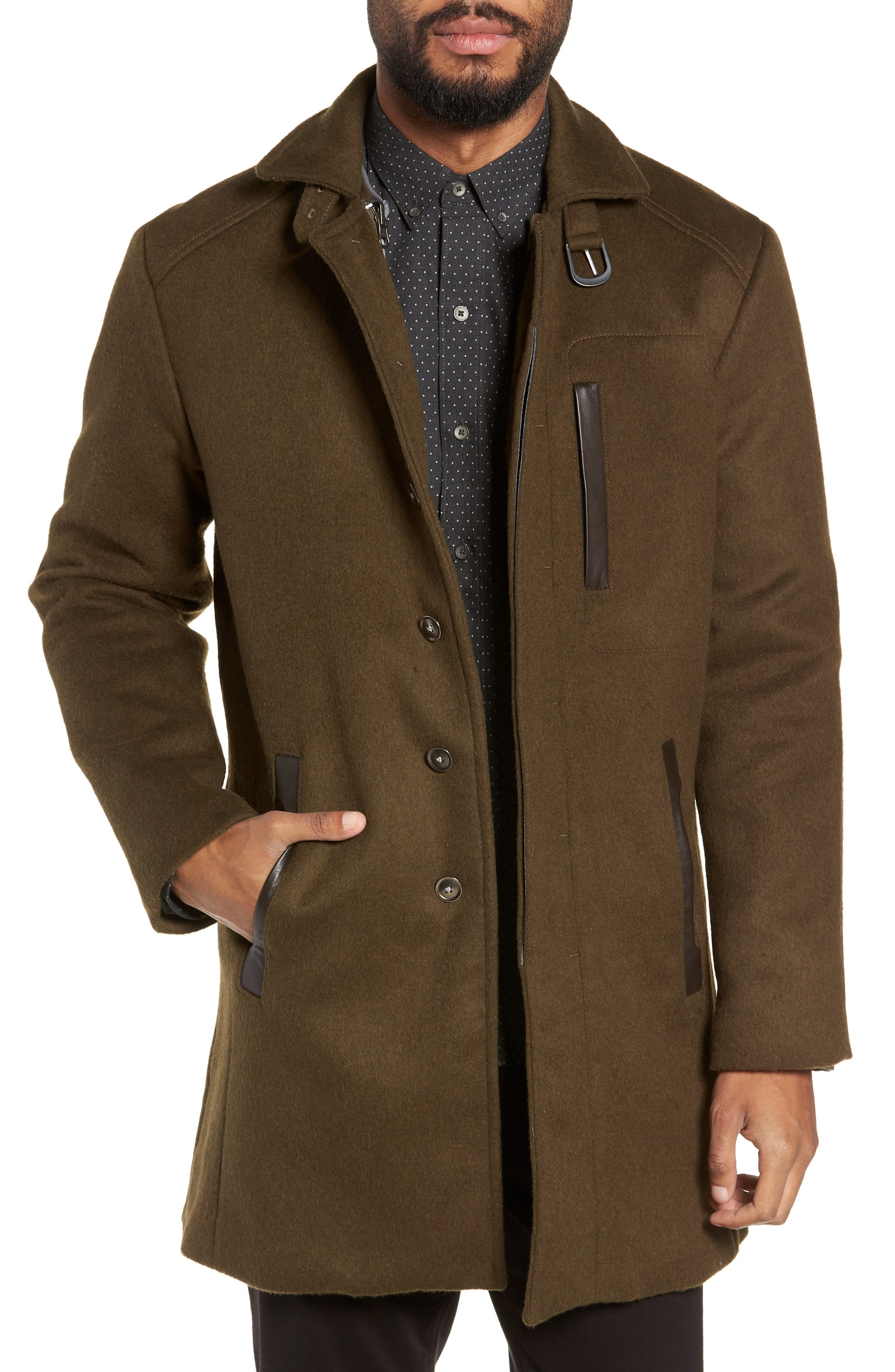 Kilo 3-in-1 Peacoat with Removable Quilted Jacket,                         Main,                         color, OLIVE