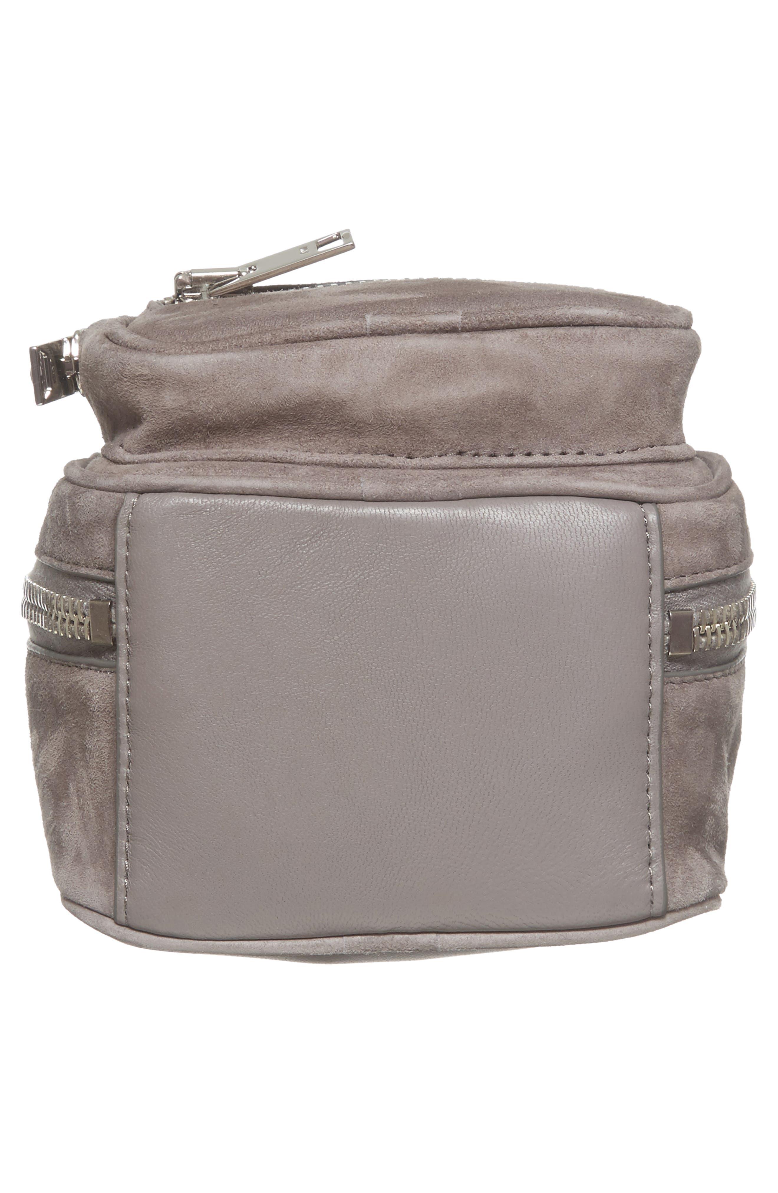 Mini Attica Leather Crossbody Backpack,                             Alternate thumbnail 6, color,                             080