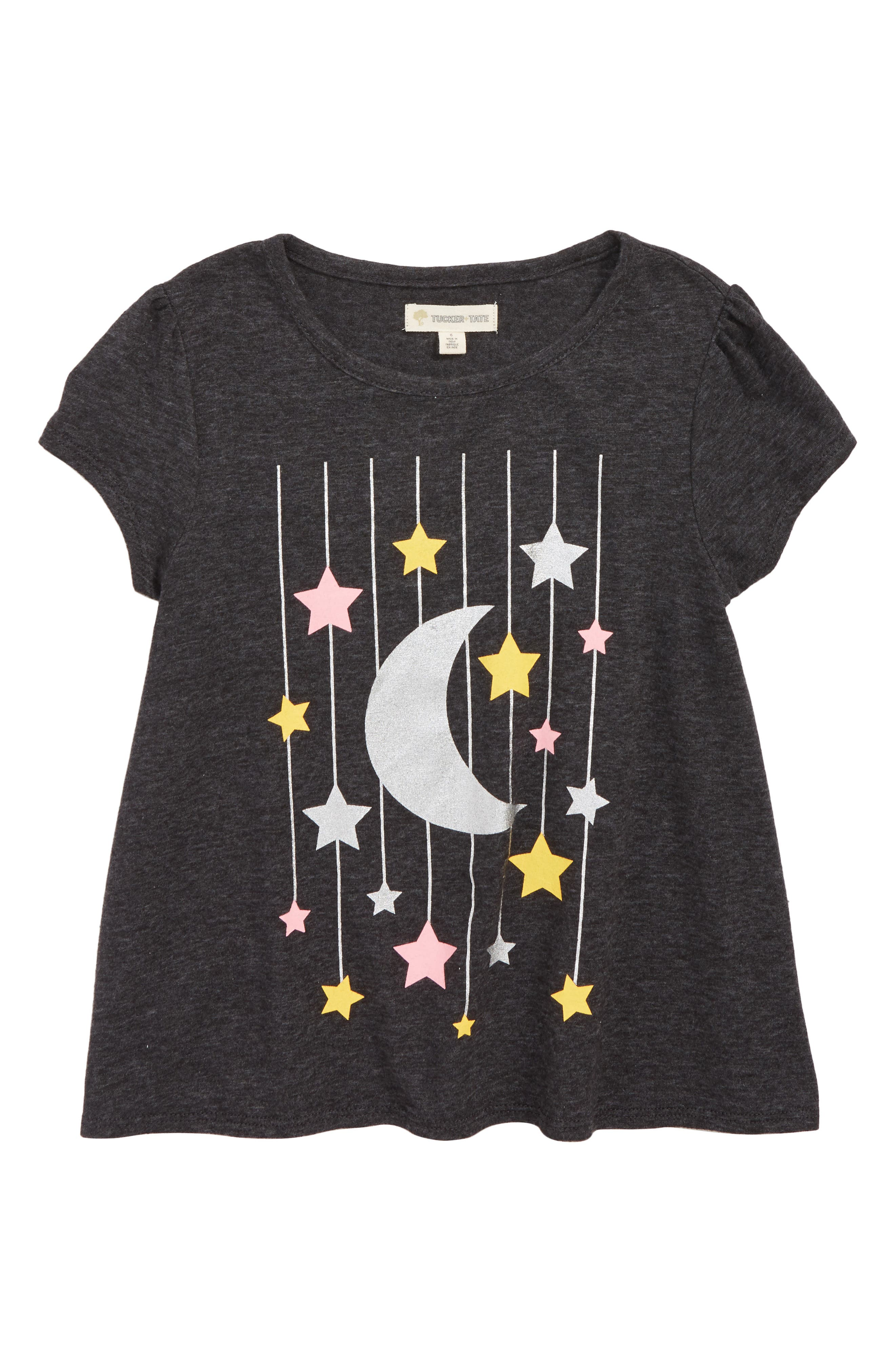 Sparkle Graphic Tee,                             Main thumbnail 1, color,                             BLACK MOON AND STARS