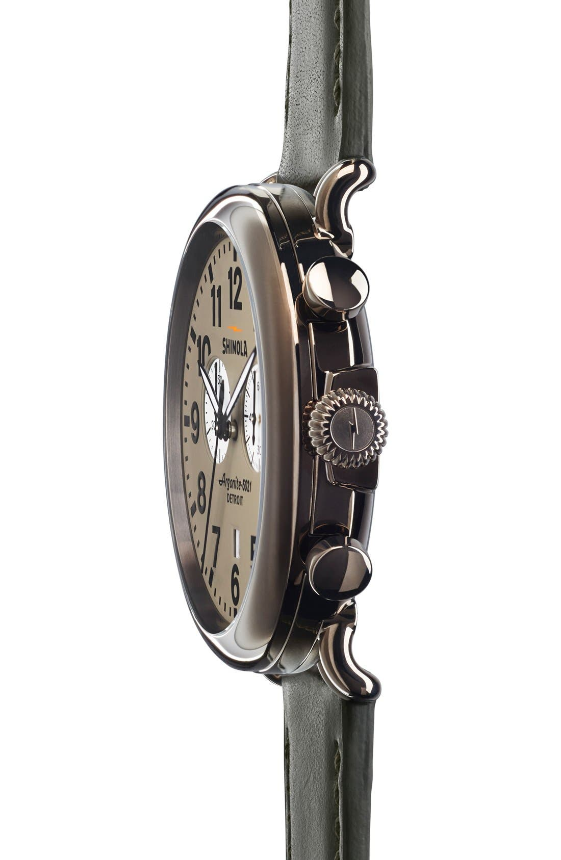 The Runwell Chrono Leather Strap Watch, 47mm,                             Alternate thumbnail 44, color,
