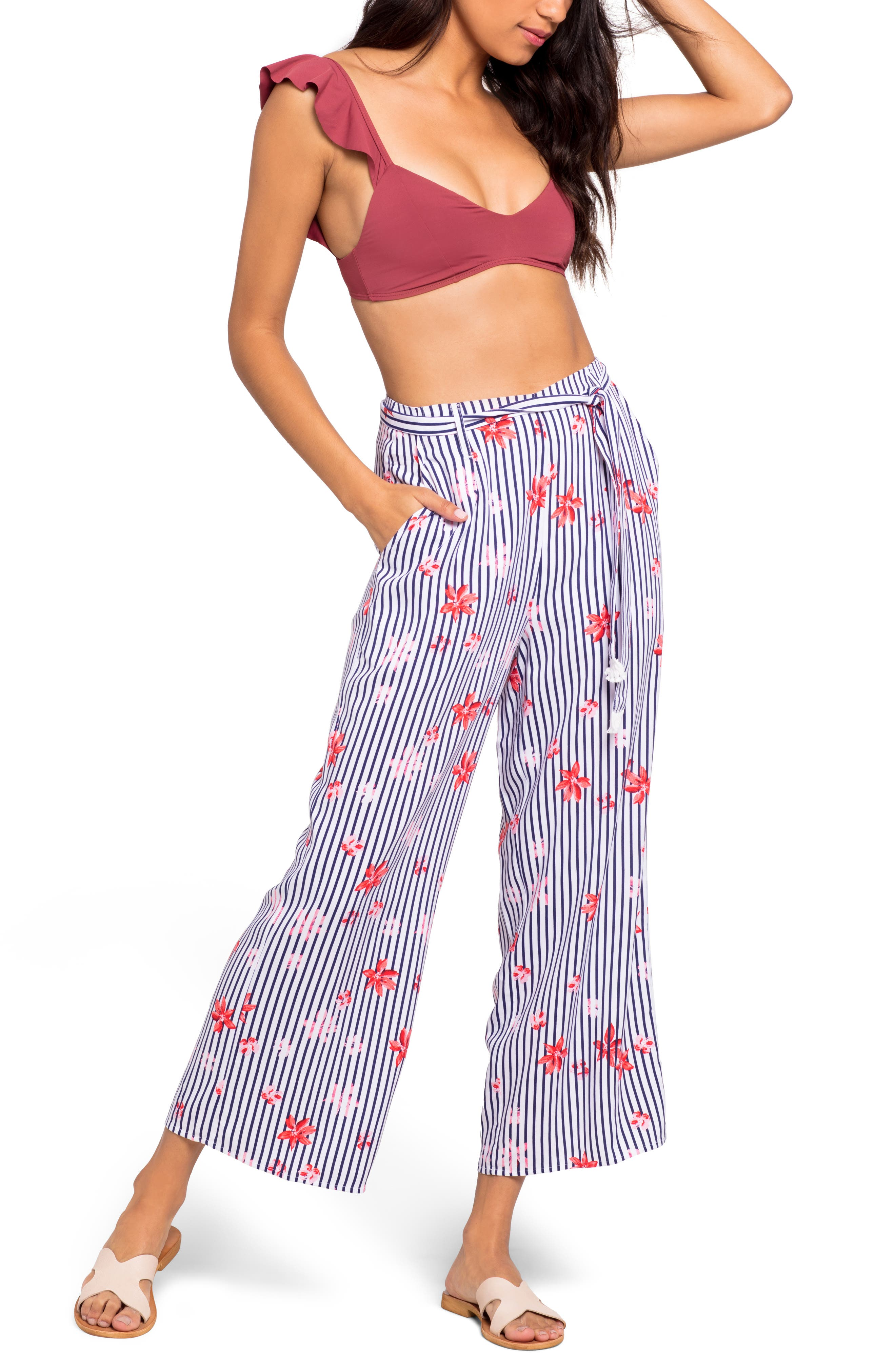 Floral Bay Smith Cover-Up Pants, Main, color, FLORAL BAY