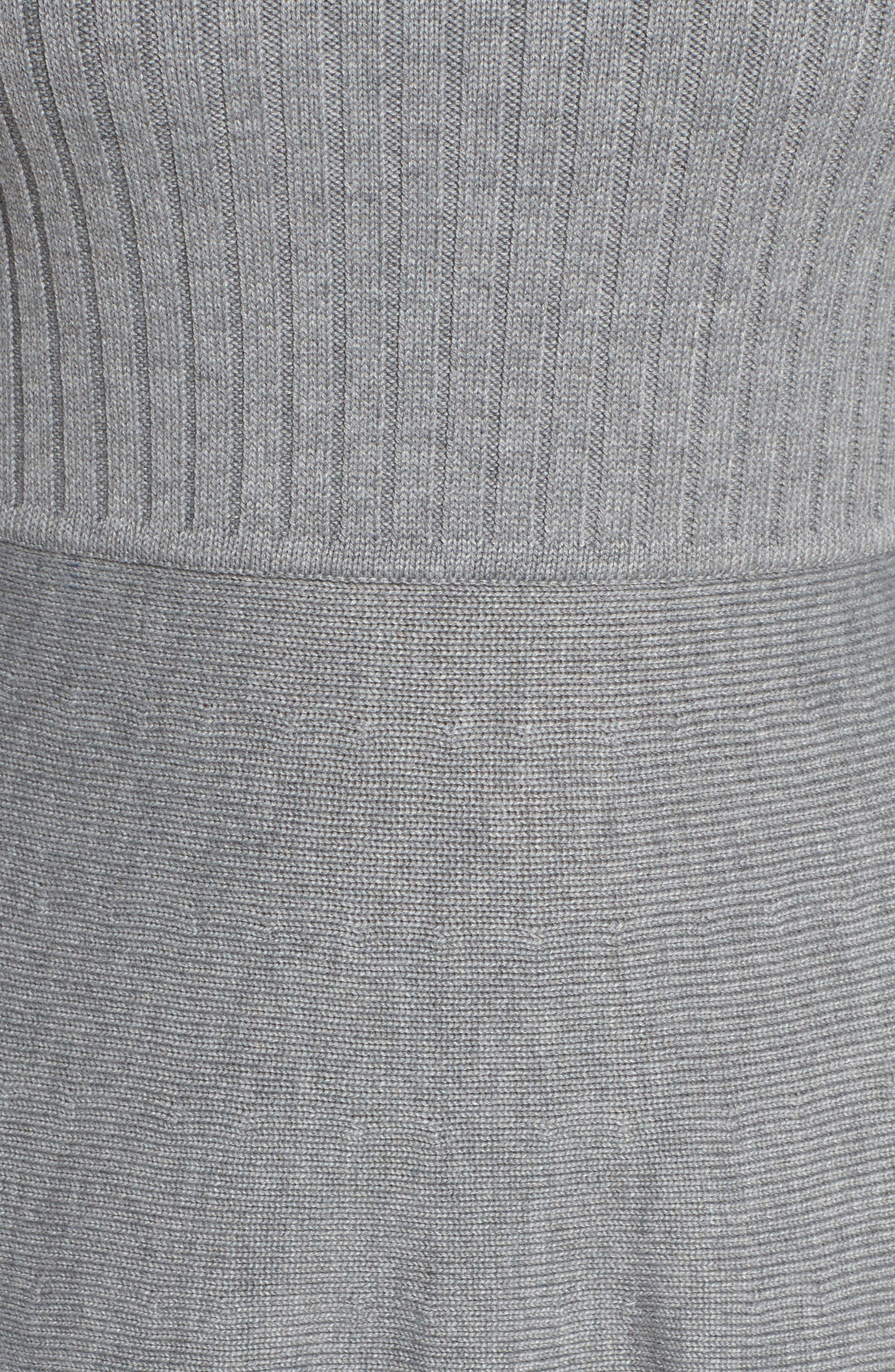 Turtleneck Sweater Dress,                             Alternate thumbnail 7, color,                             GREY