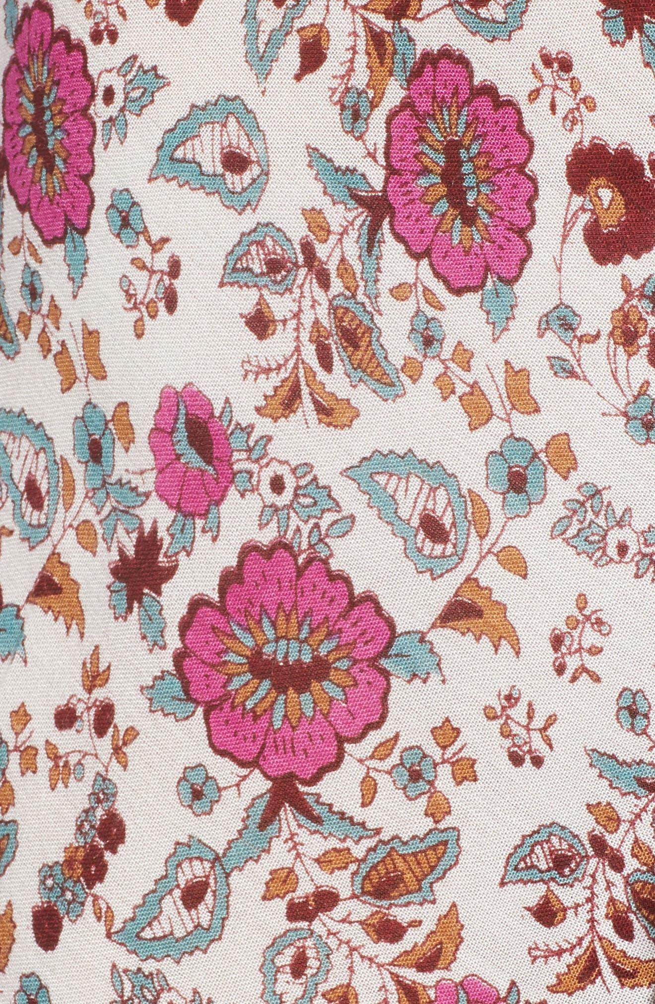 Summer Bloom Ruffle Hem High/Low Dress,                             Alternate thumbnail 6, color,                             PINK