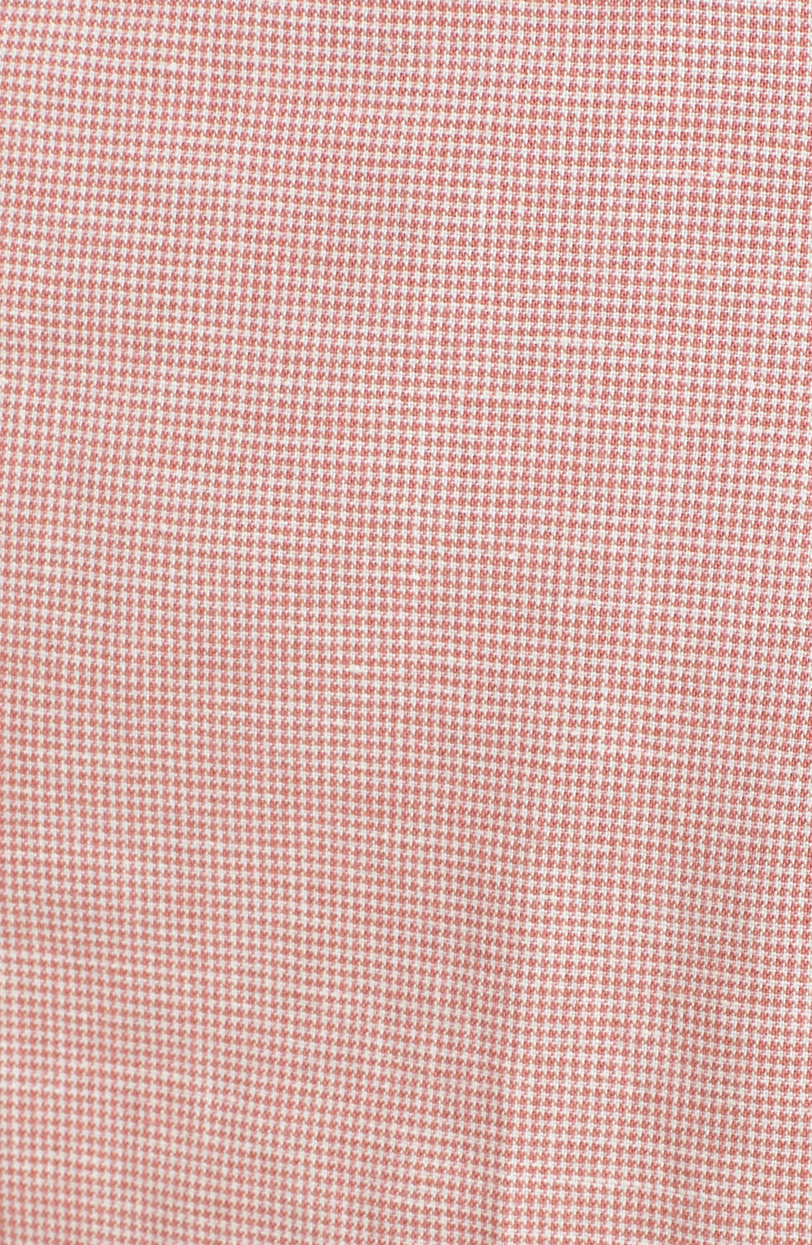 Ludlow Trim Fit Houndstooth Cotton & Linen Suit Pants,                             Alternate thumbnail 10, color,