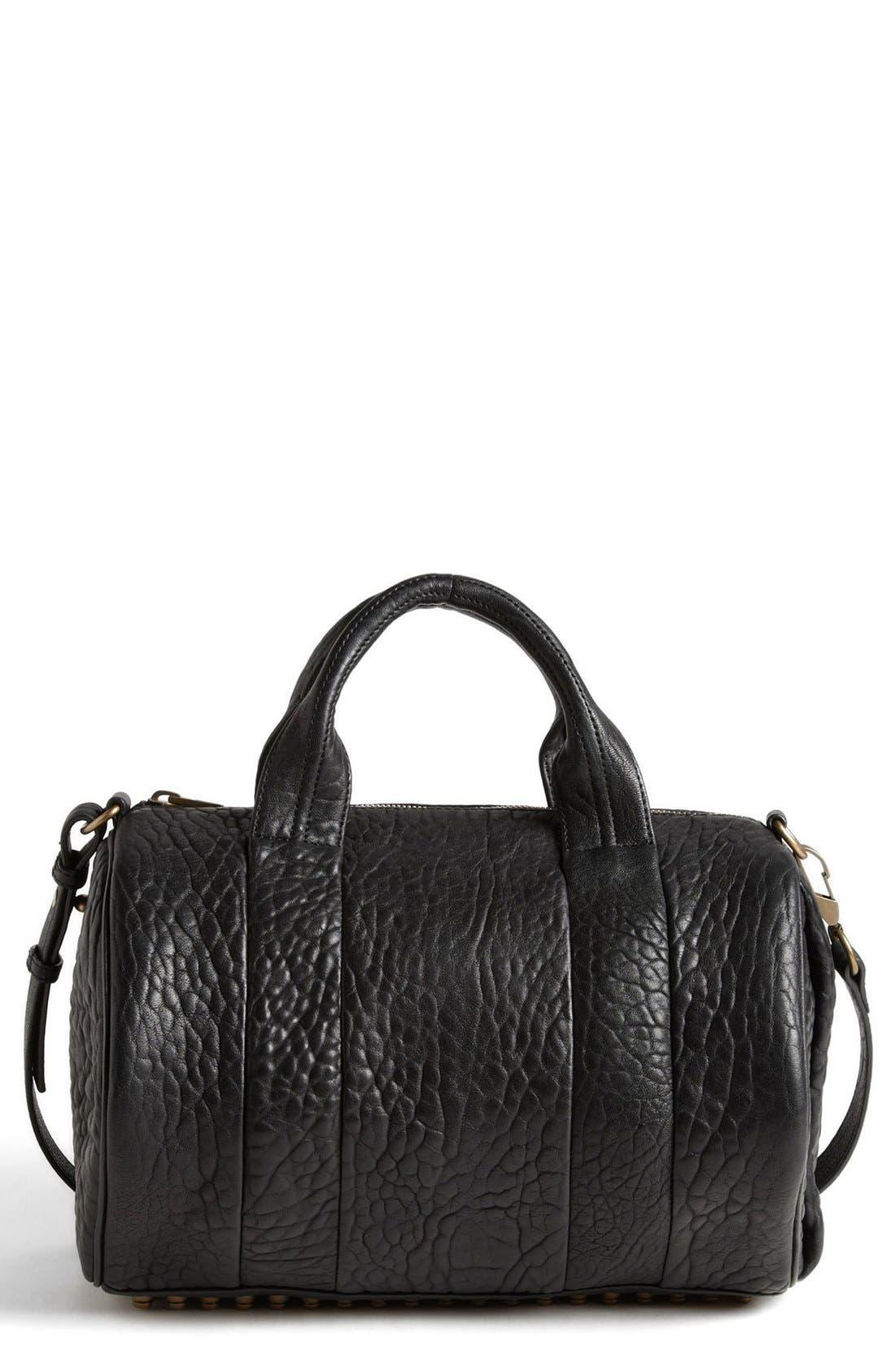 'Rocco - Antique Brass' Leather Satchel,                         Main,                         color, 001