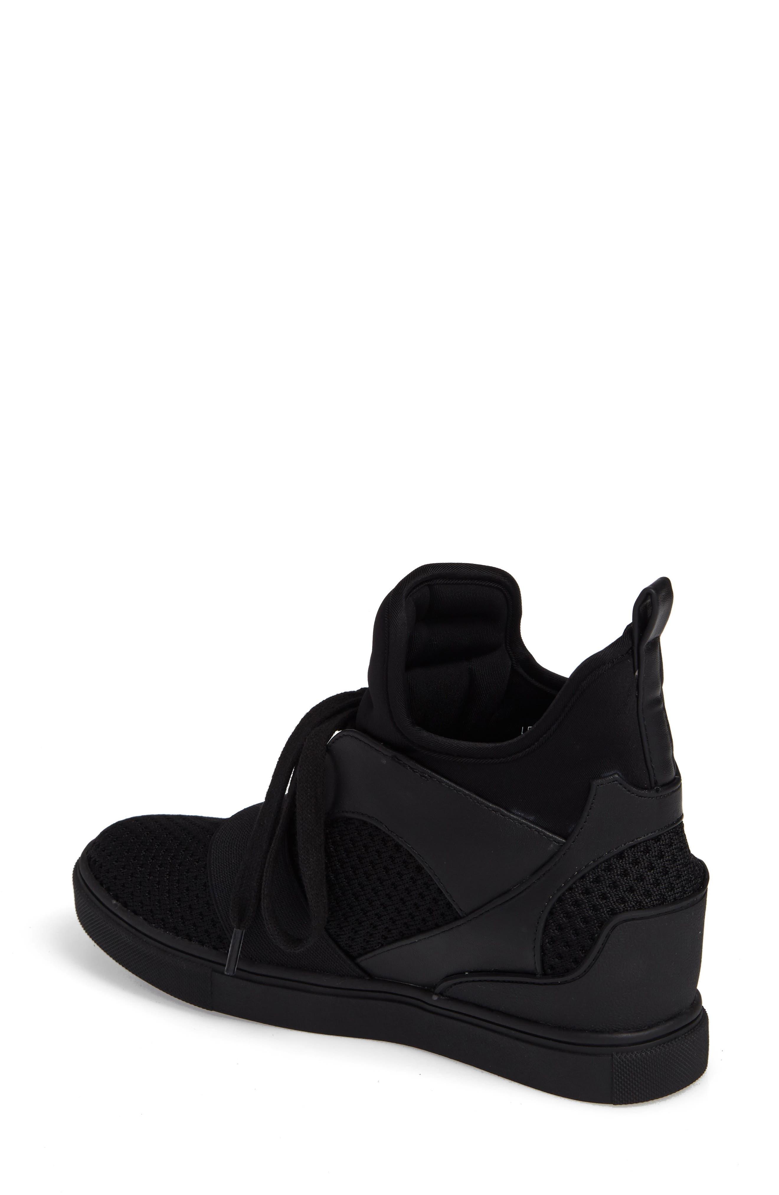 Lexie Wedge Sneaker,                             Alternate thumbnail 2, color,                             001
