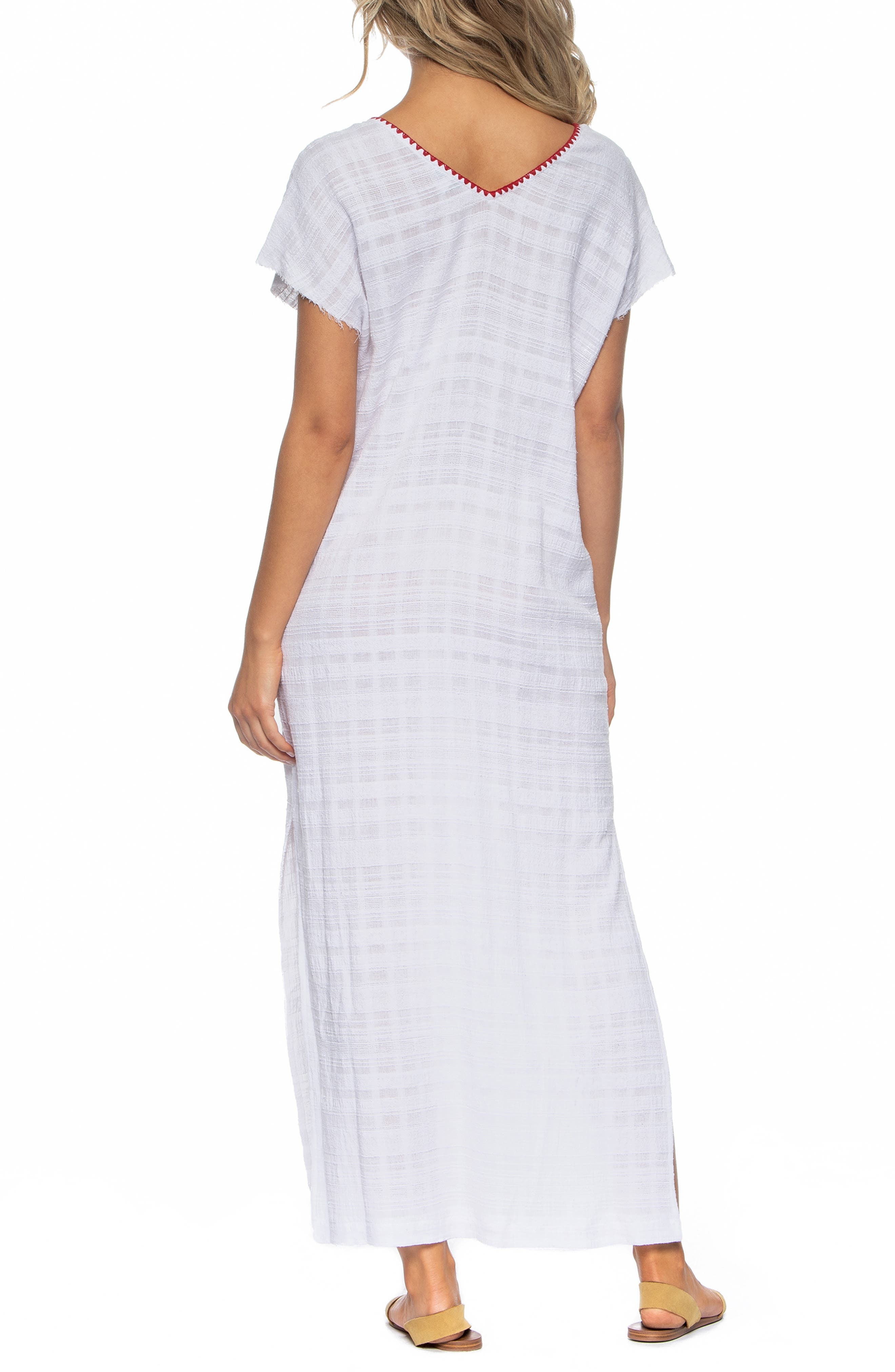 Tasha Cover-Up Maxi Dress,                             Alternate thumbnail 2, color,                             WHITE