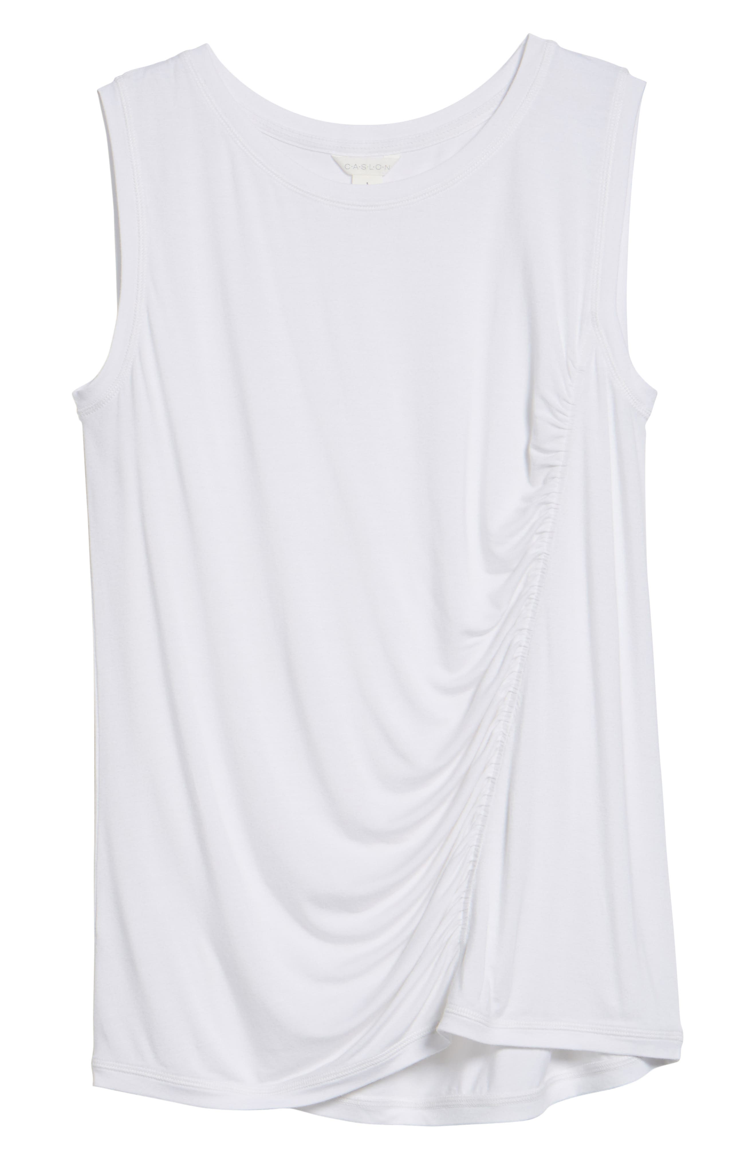 Off-Duty Shirred Sleeveless Tee,                             Alternate thumbnail 28, color,