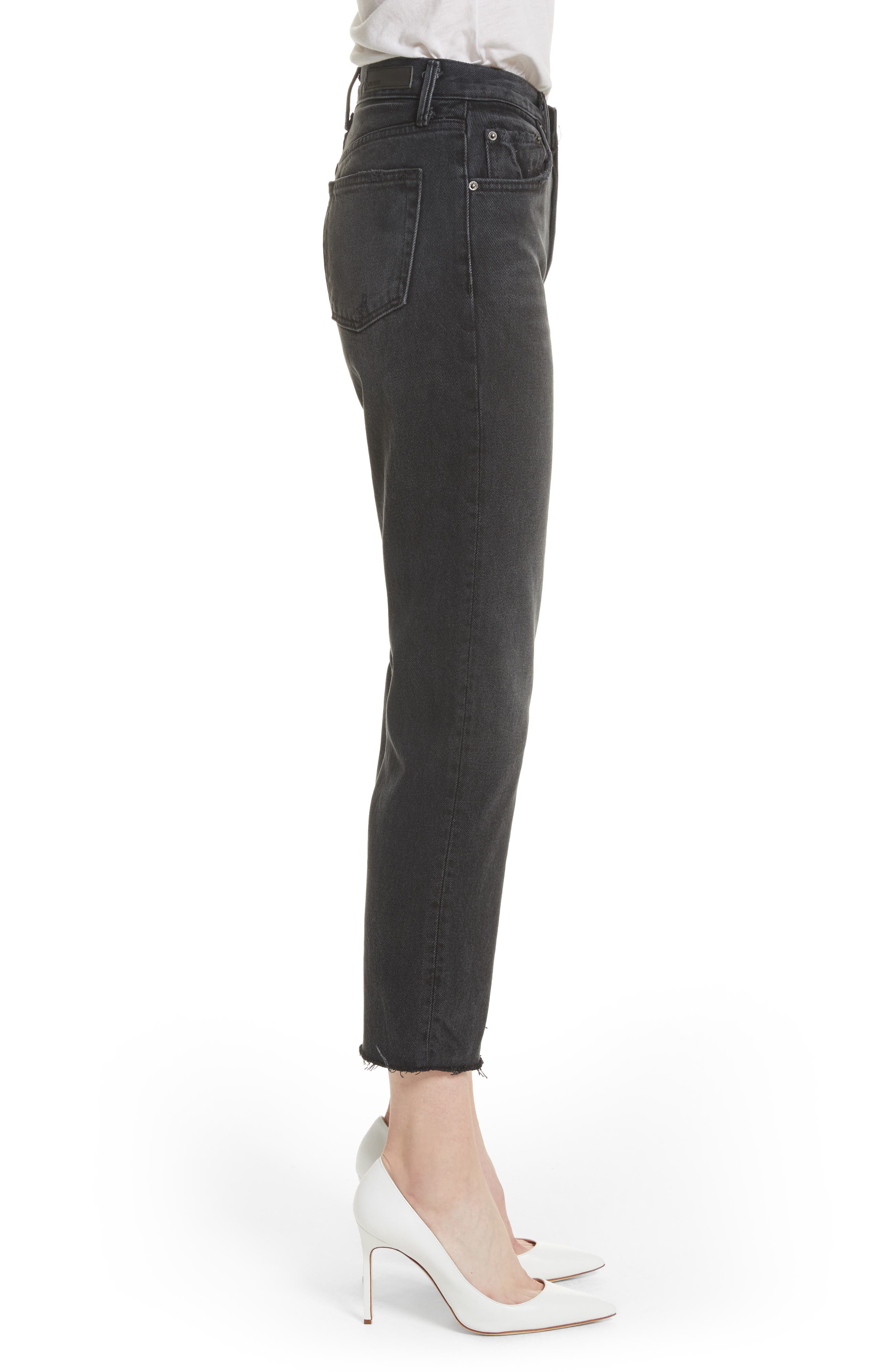Helena Rigid High Waist Straight Jeans,                             Alternate thumbnail 3, color,                             PROUD MARY