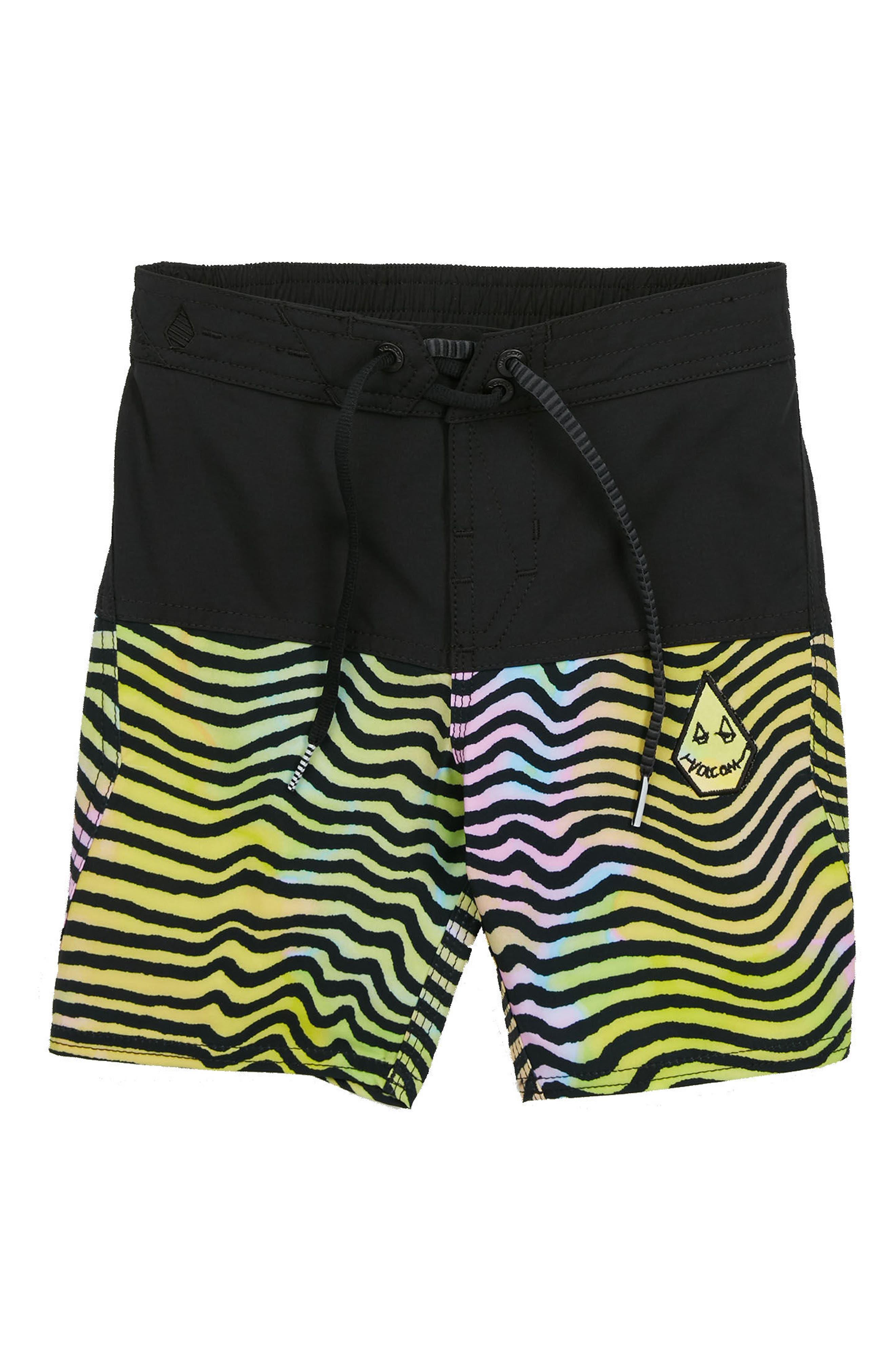 VOLCOM,                             Vibes Board Shorts,                             Main thumbnail 1, color,                             001