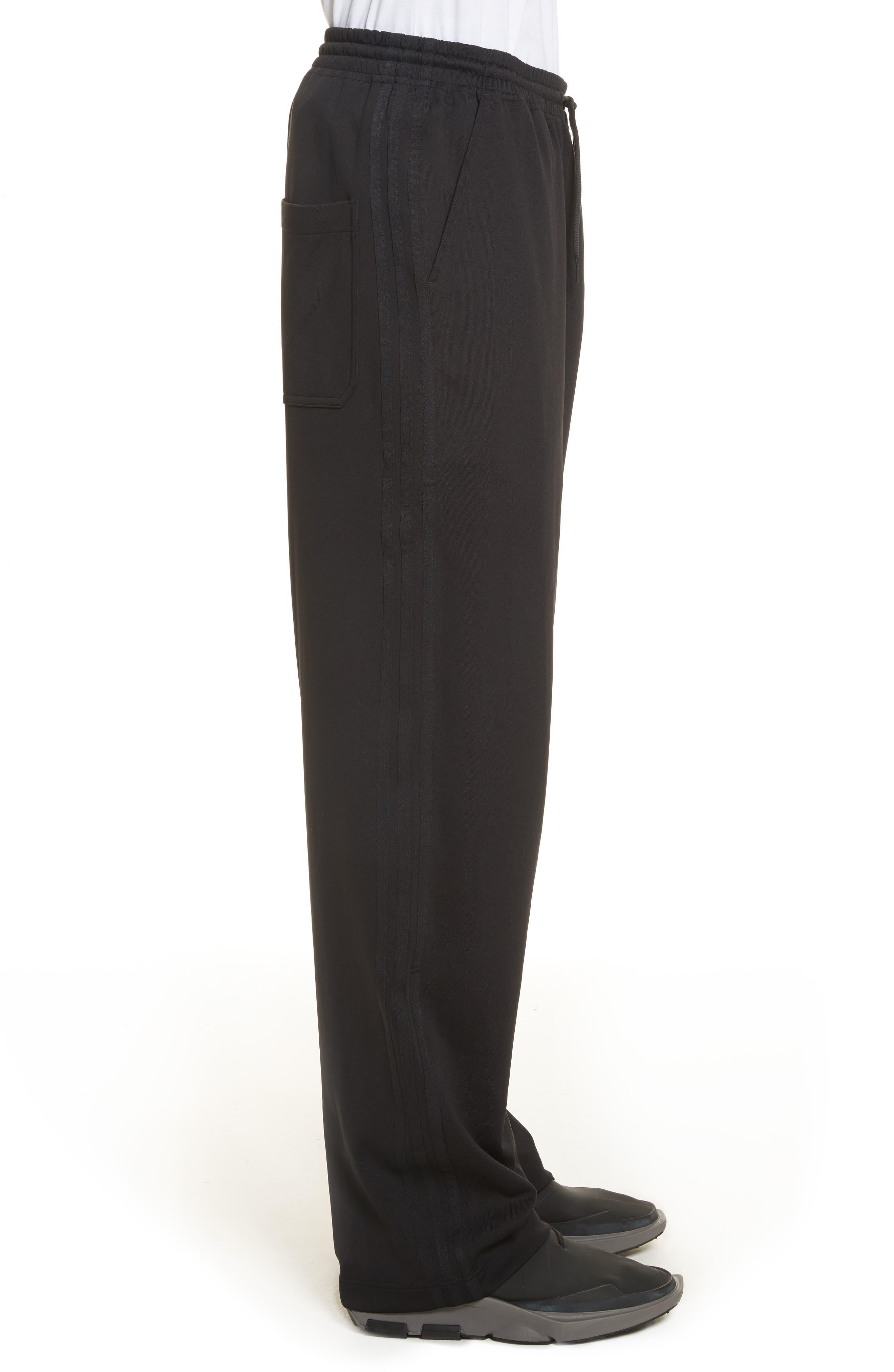 x adidas Wide Leg Track Pants,                             Alternate thumbnail 3, color,                             001