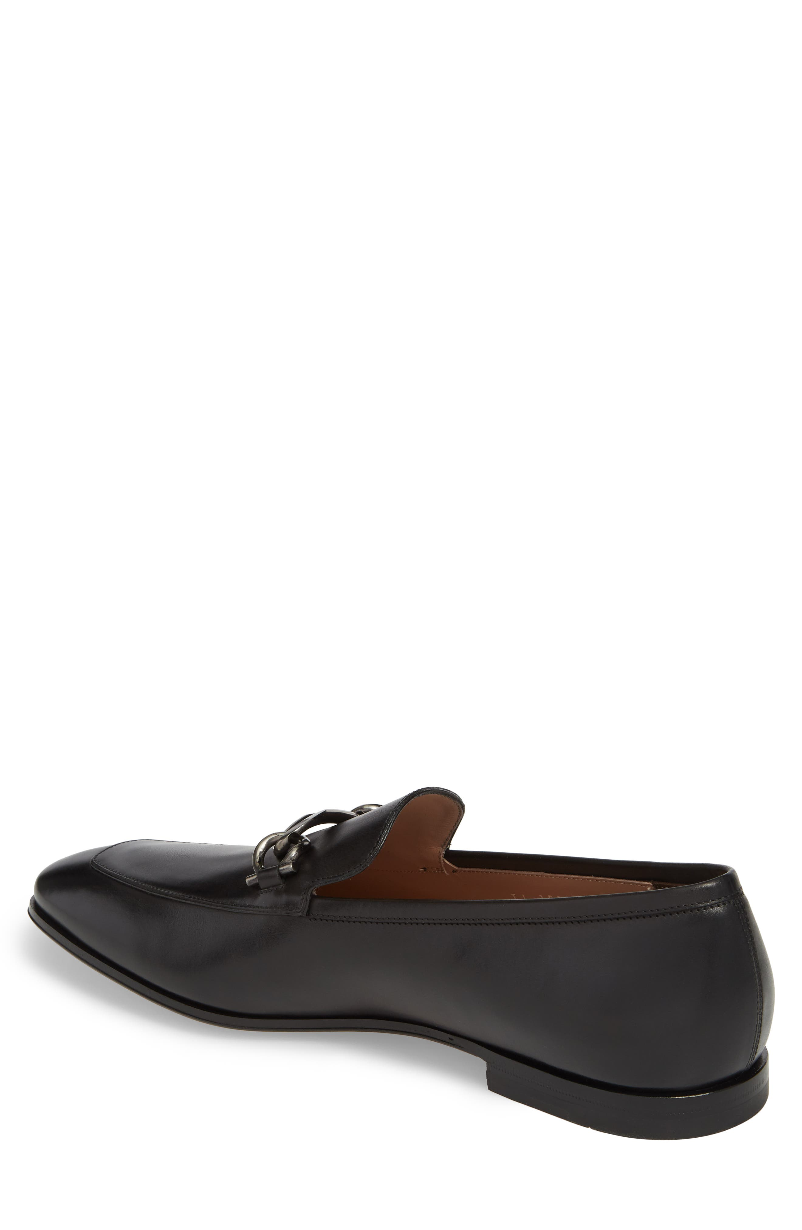 Boy Chain Bit Loafer,                             Alternate thumbnail 2, color,                             NERO LEATHER