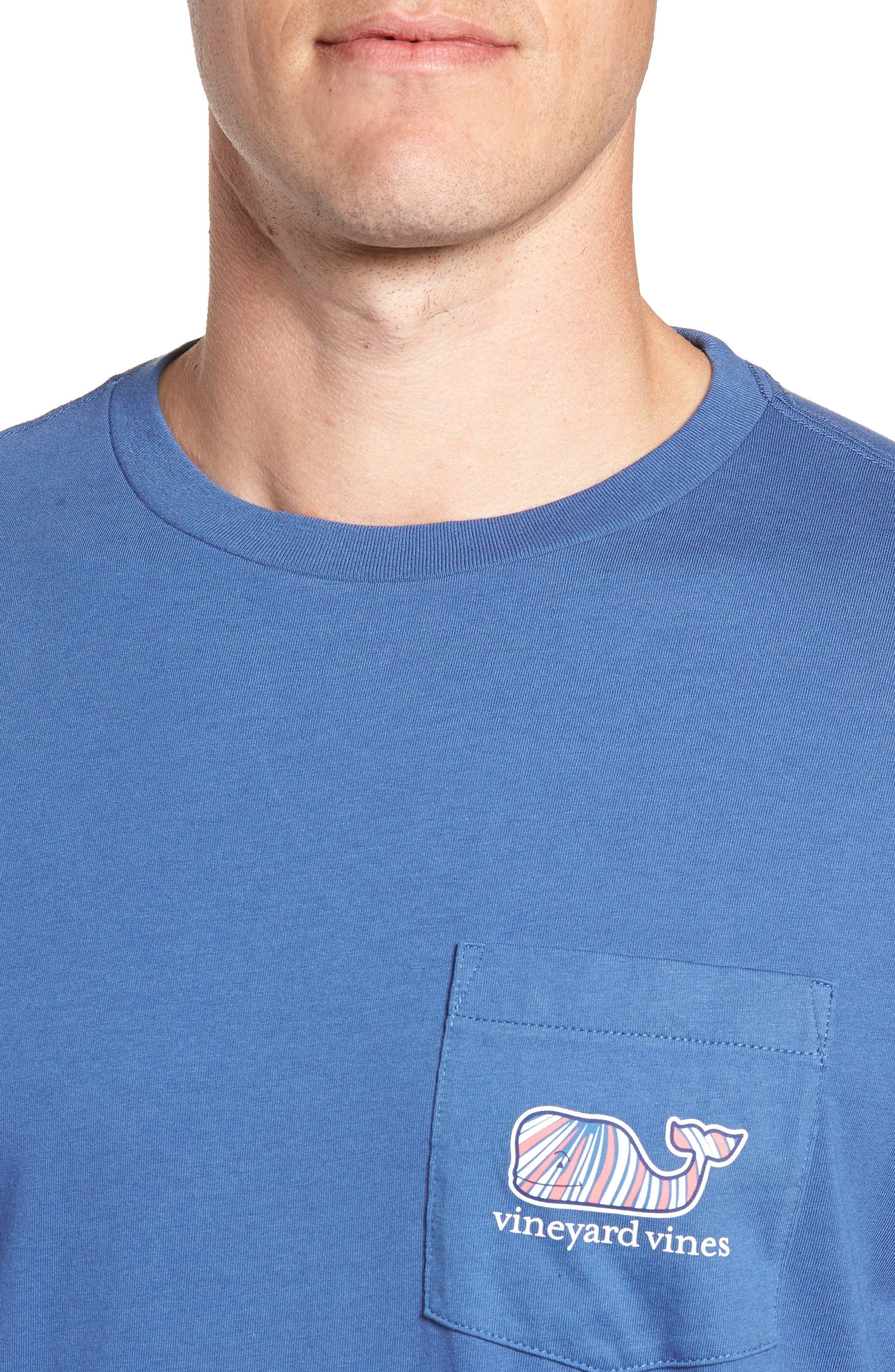 Mermaids Whale Fill Graphic Pocket T-Shirt,                             Alternate thumbnail 4, color,