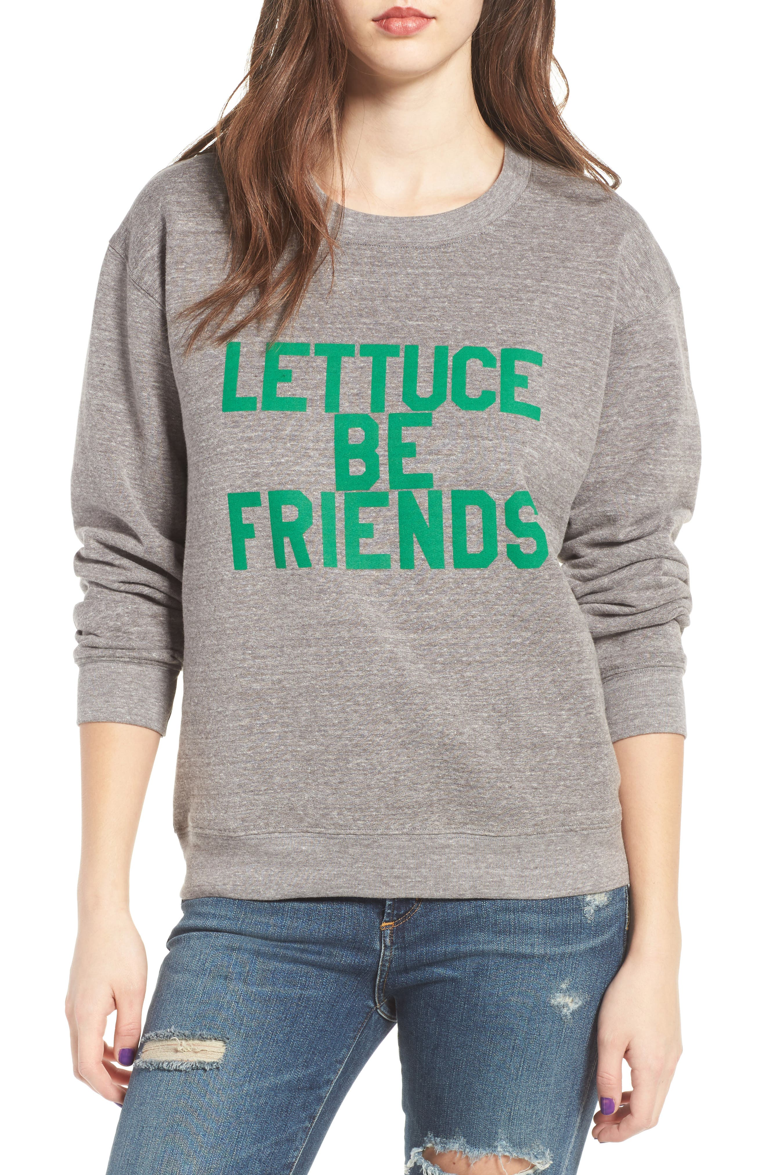 Lettuce Be Friends Sweatshirt,                         Main,                         color, 050