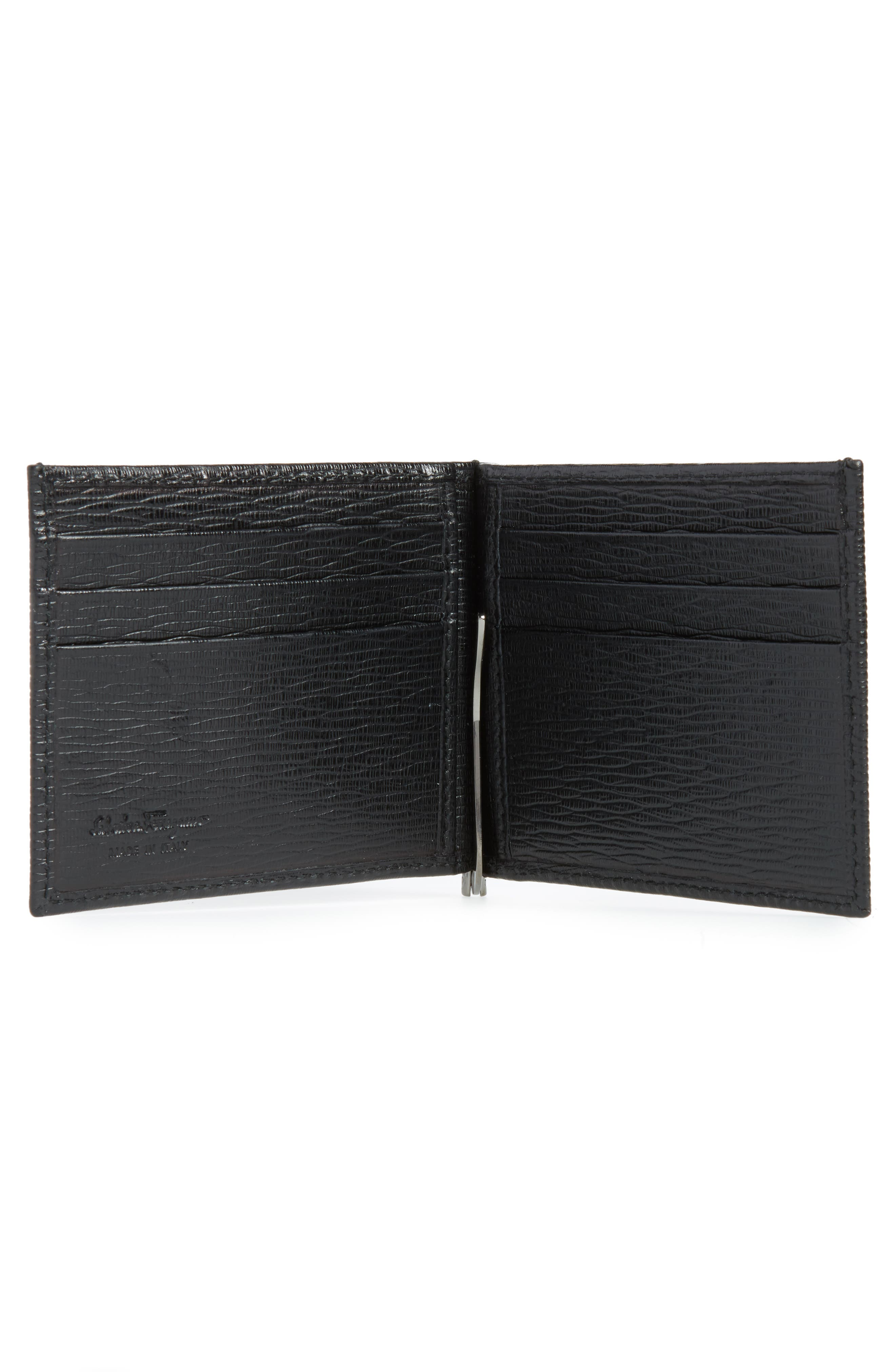 Revival Bifold Leather Wallet,                             Alternate thumbnail 2, color,                             NERO
