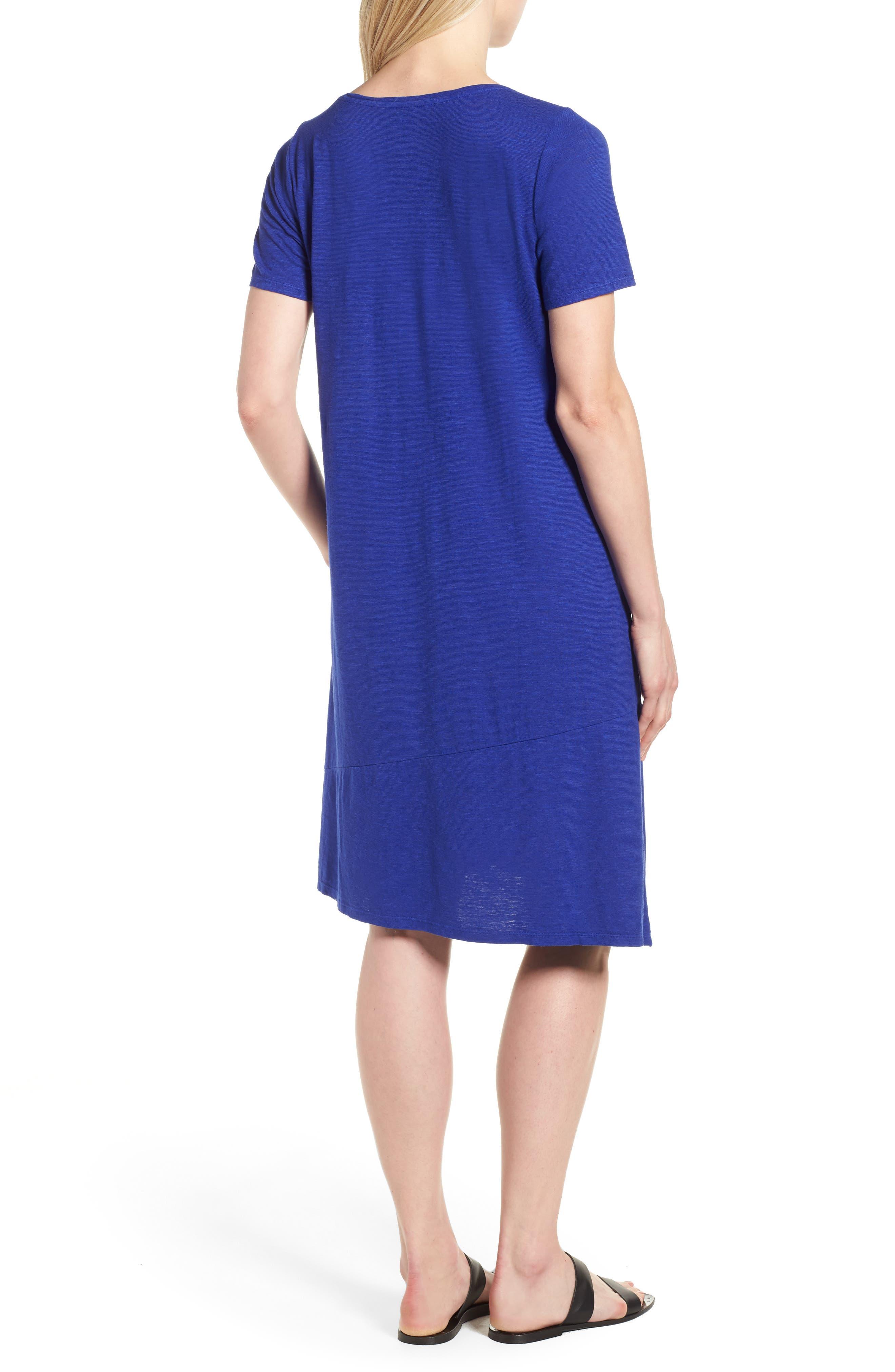 Asymmetrical Hemp Blend Shift Dress,                             Alternate thumbnail 6, color,